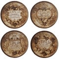 Certified International Gilded Wine Assorted 6-inch Canape Plates (Set of 4)