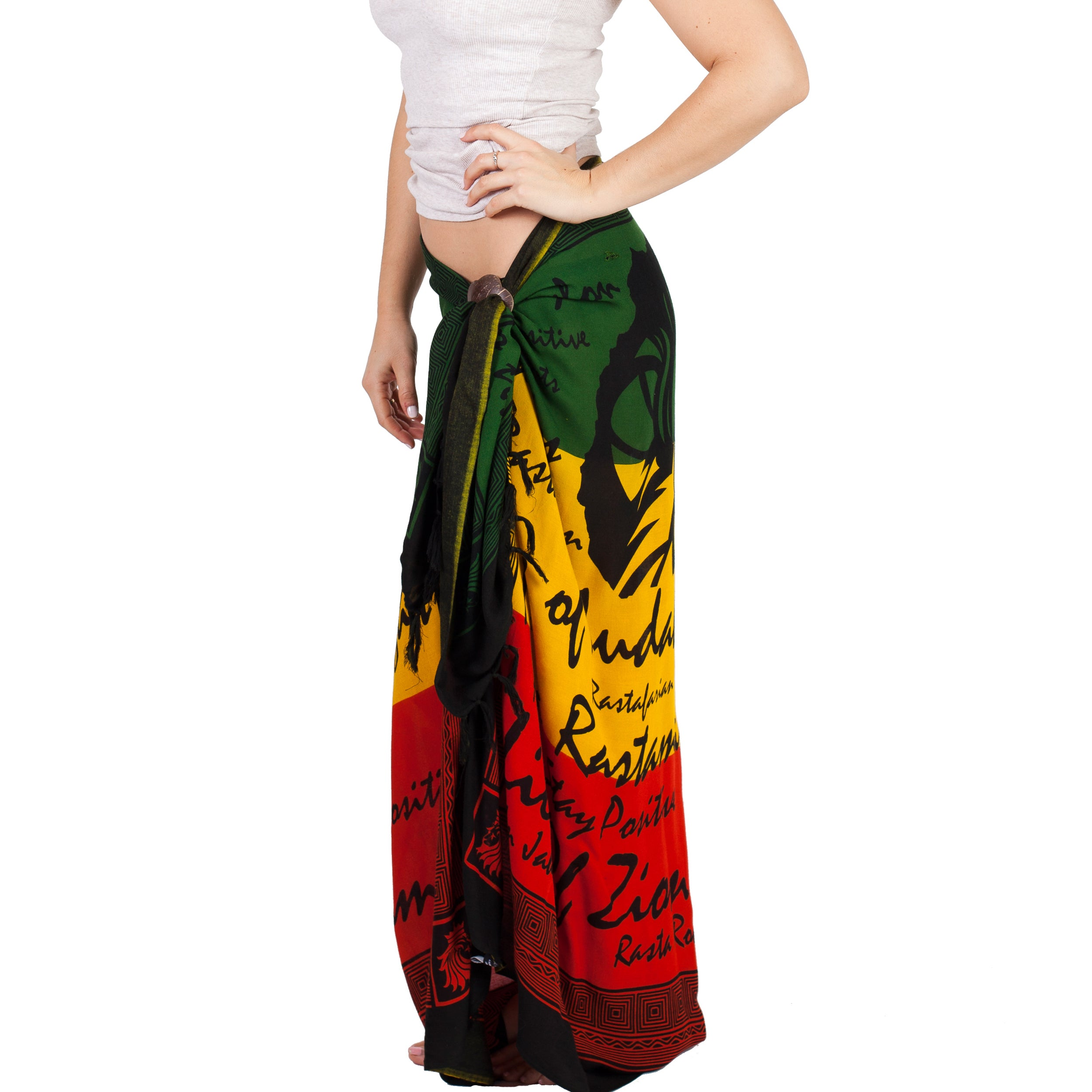 d423264aa8 Shop Handmade Women s Rasta Reggae Jah Lion Africa Cover Up Sarong  (Indonesia) - Free Shipping On Orders Over  45 - Overstock - 14356732