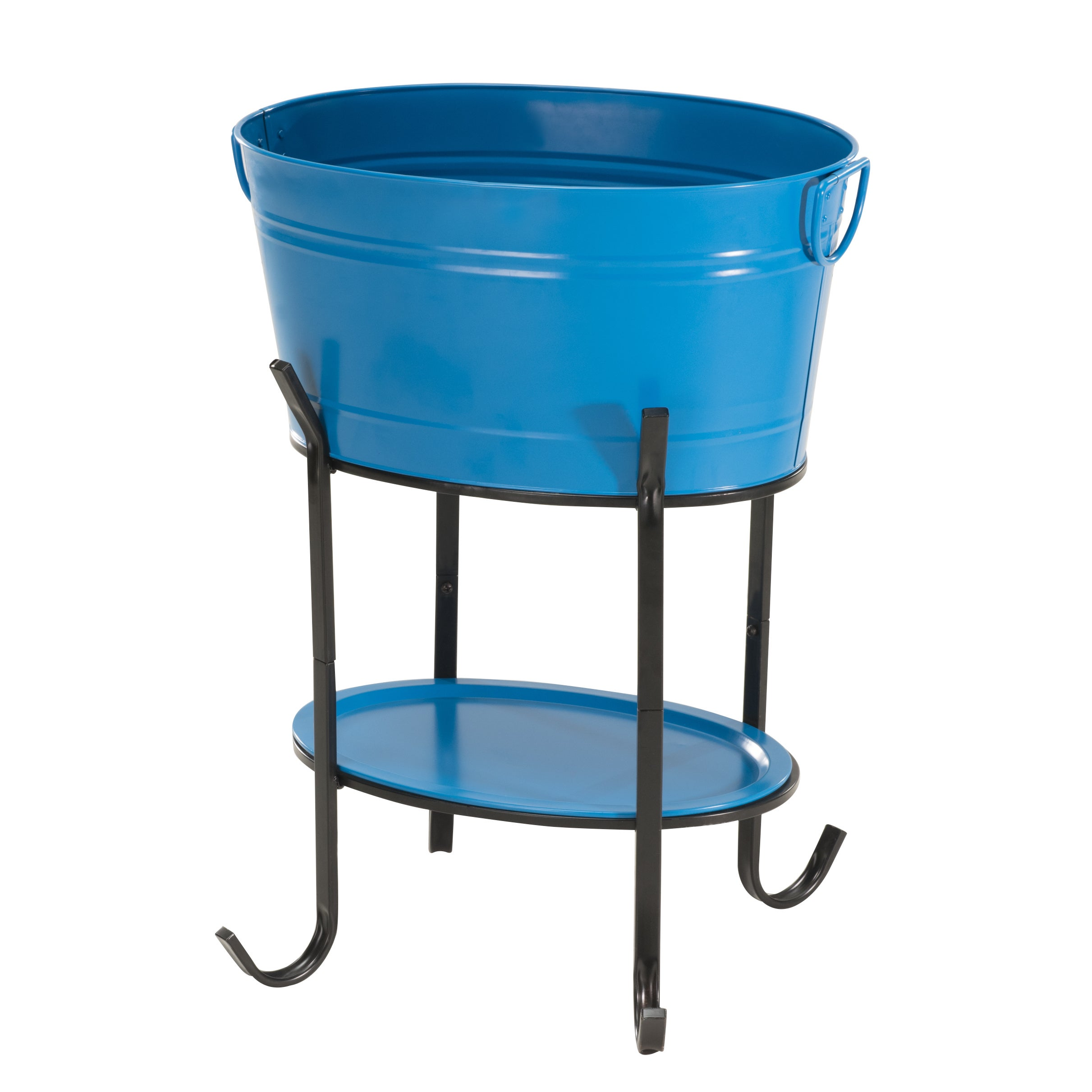 Shop Sunjoy Blue Steel 26-inch Party Tub - Free Shipping Today ...