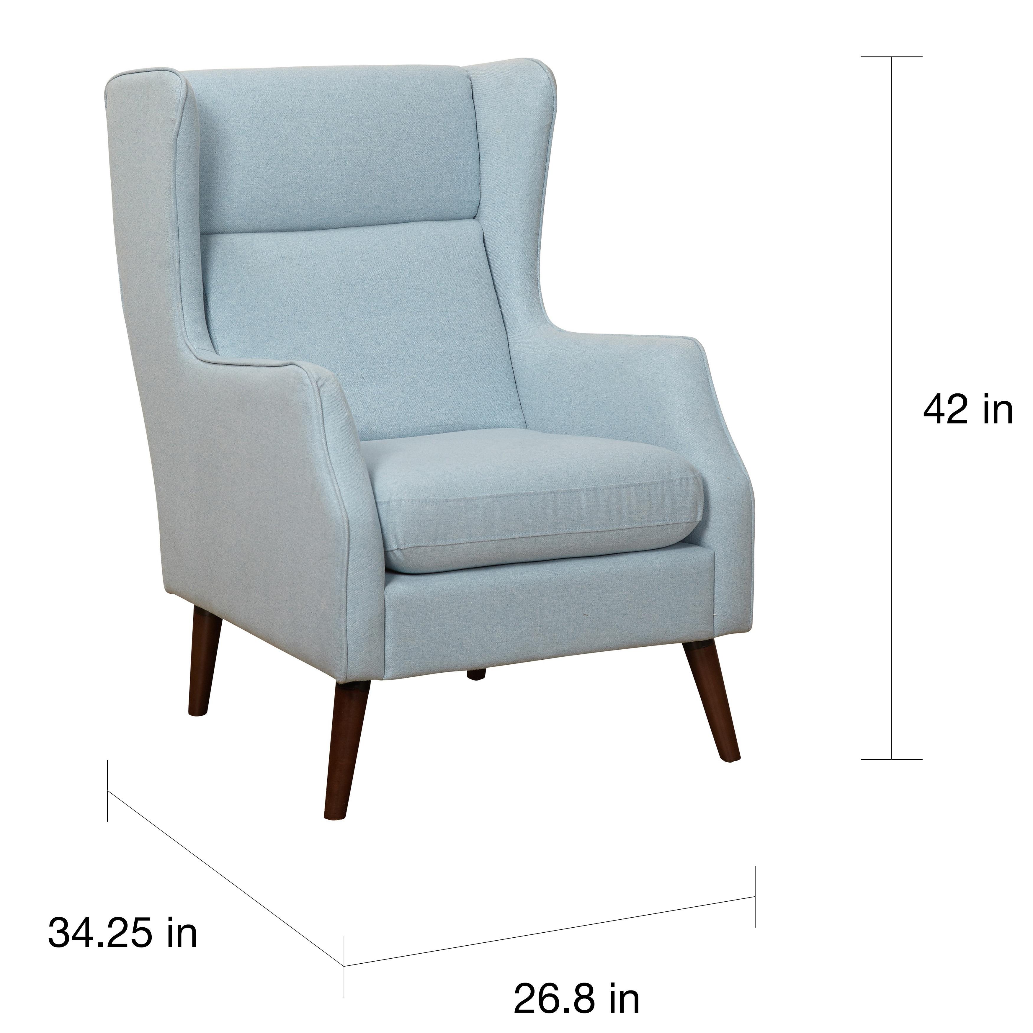 Simple Living Alana Mid Century Light Blue Wing Chair - Free ...