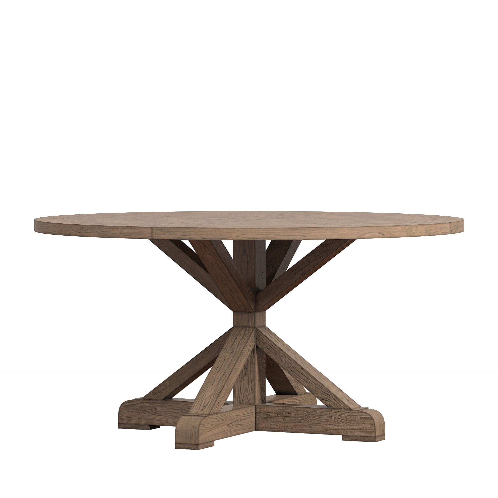 Shop Benchwright Rustic Xbase Inch Round Dining Table Set By - 56 inch round table