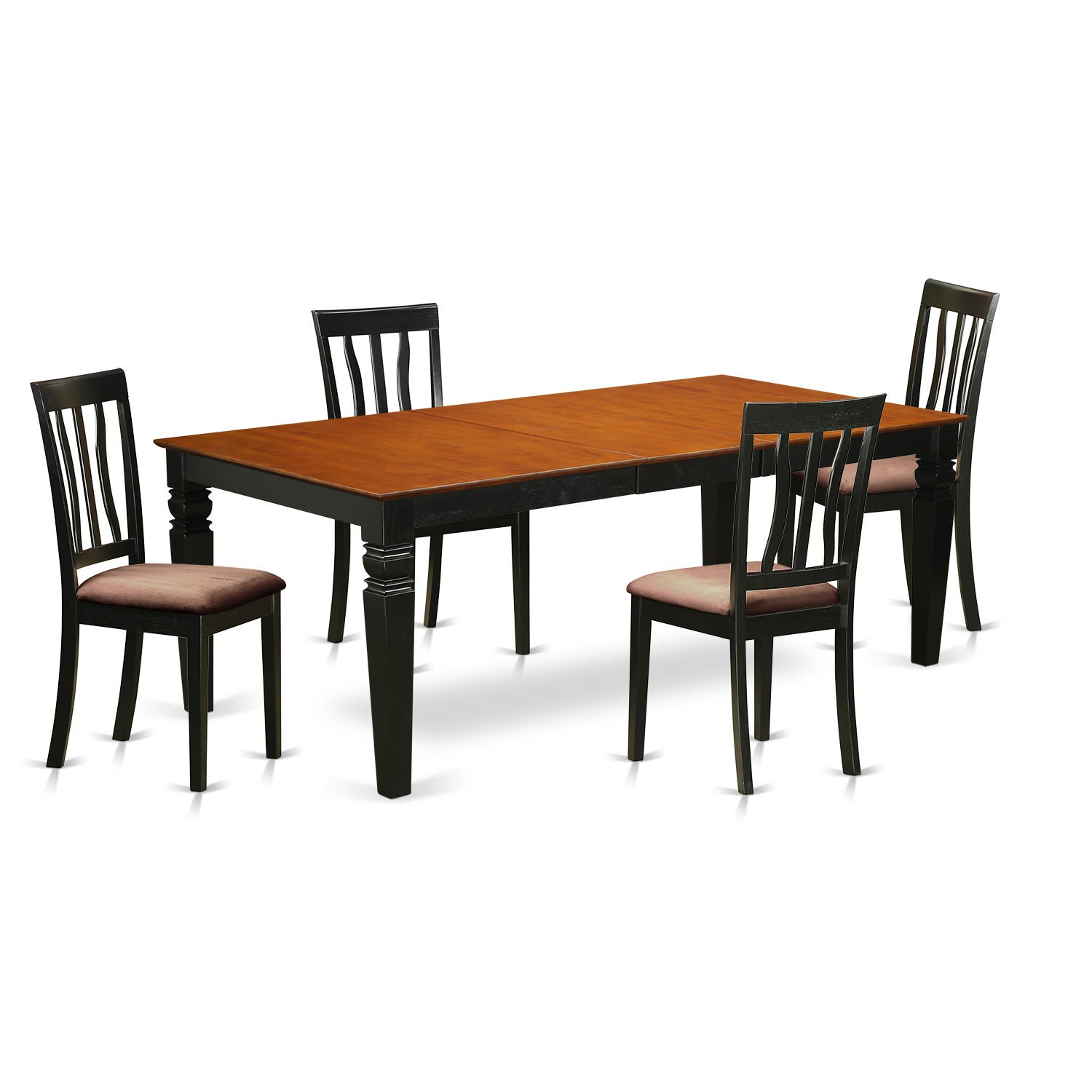LGAN5-BCH 5 Piece Kitchen table set with one Logan dining table and ...