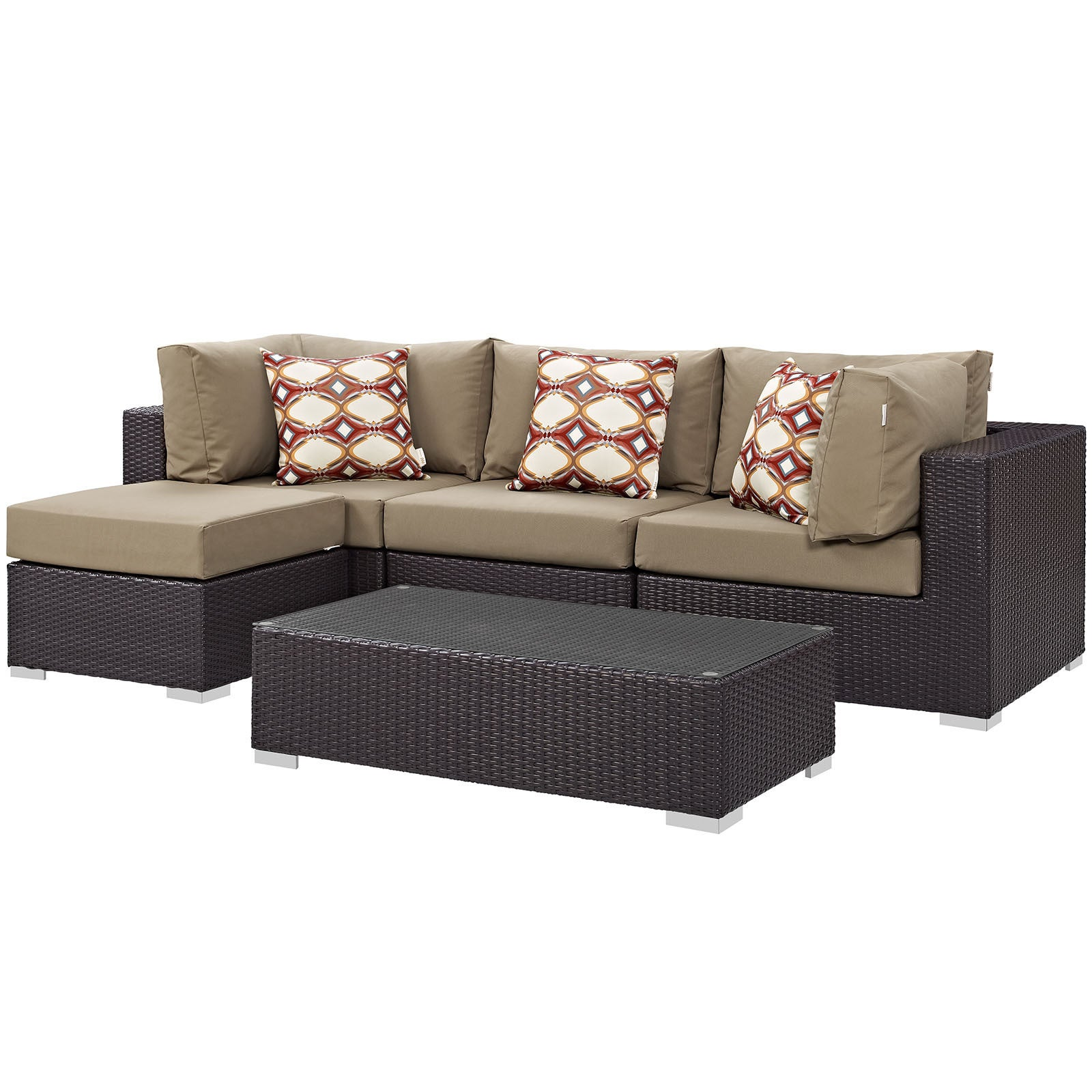 sectional plastic sale one recycled patio item brown newport eagle set
