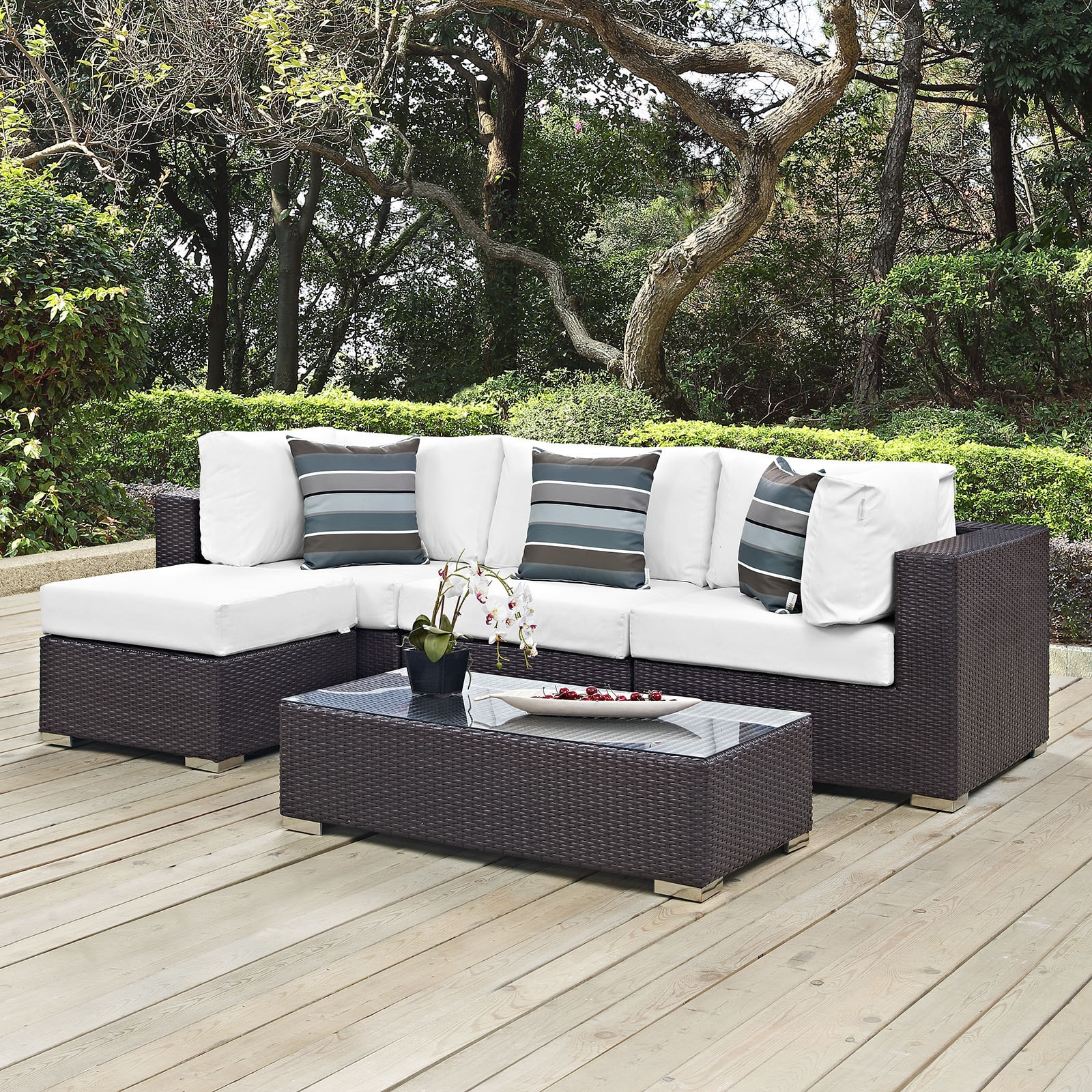 Shop Convene 5 Piece Outdoor Patio Sectional Set   Free Shipping Today    Overstock.com   14366925