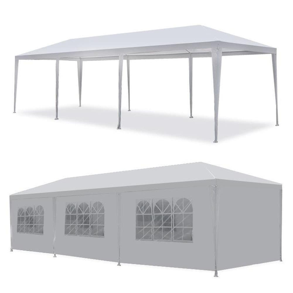 MCombo 10u0027x30u0027 White Canopy Party Tent 8 Removable Walls - Free Shipping Today - Overstock.com - 20942839  sc 1 st  Overstock.com & MCombo 10u0027x30u0027 White Canopy Party Tent 8 Removable Walls - Free ...