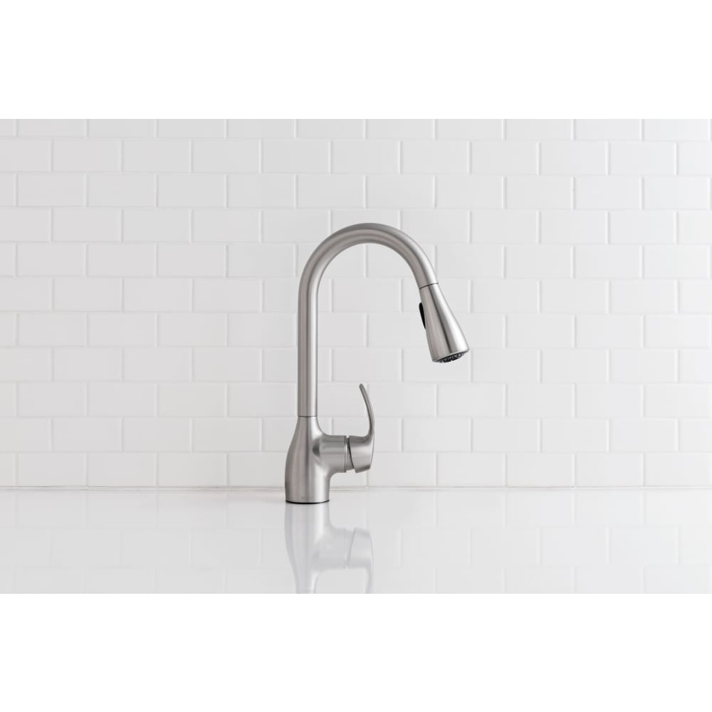 Shop Moen Kleo Pullout Spray Single Hole 1 Kitchen Faucet Ca87011srs