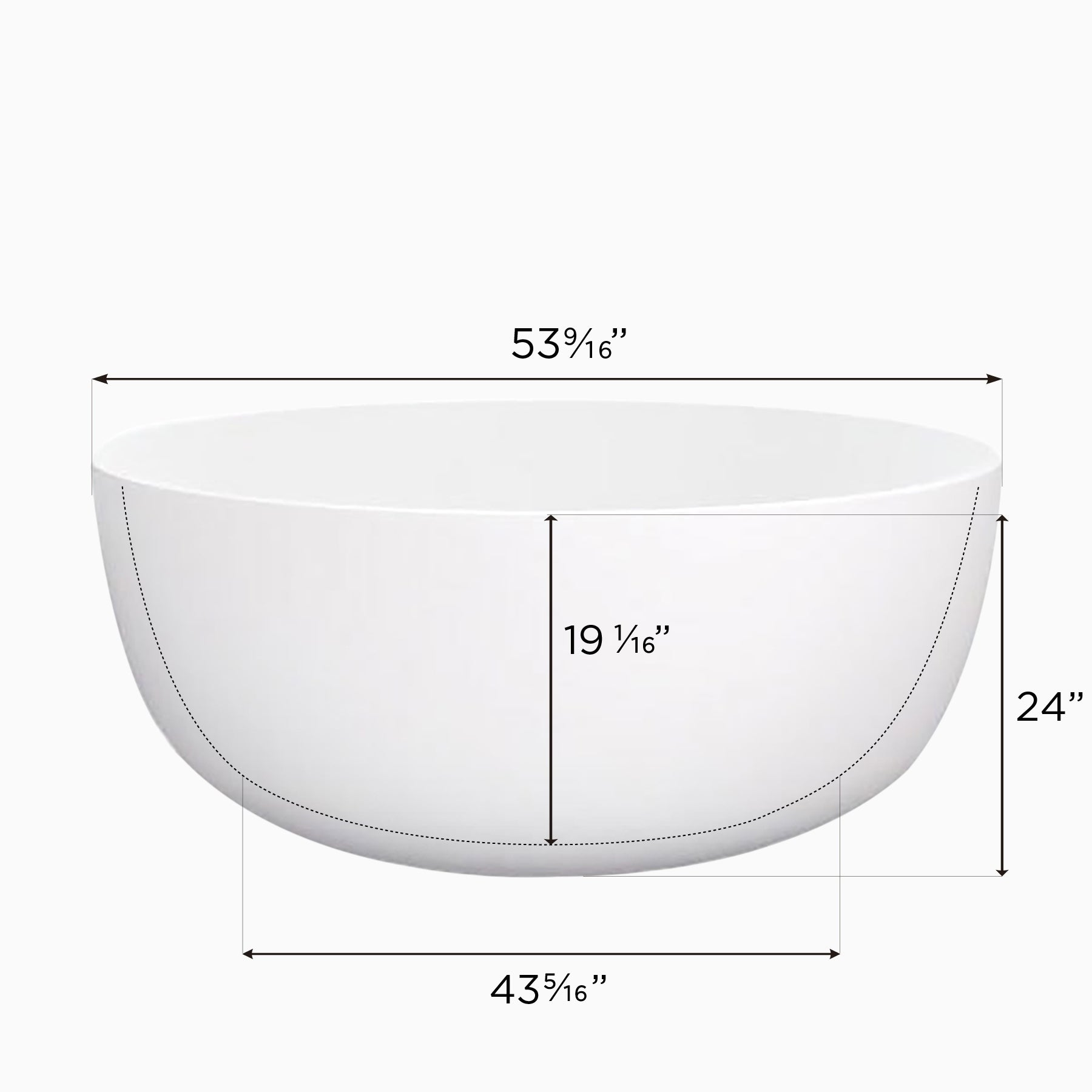 Maykke Vale 53 Inch Round 2  Person Deep Soaking Tub, White Acrylic   Free  Shipping Today   Overstock.com   20944129