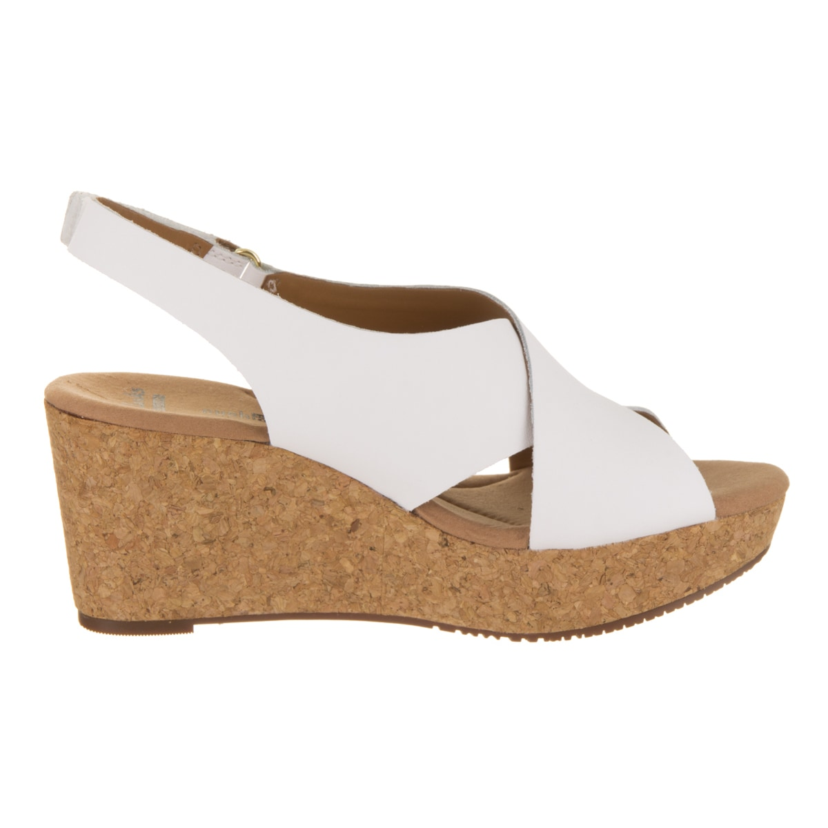 d0f96dcc3fb Shop Women s Clarks Annadel Eirwyn Slingback Wedge Sandal White Nubuck -  Ships To Canada - Overstock.ca - 14381350