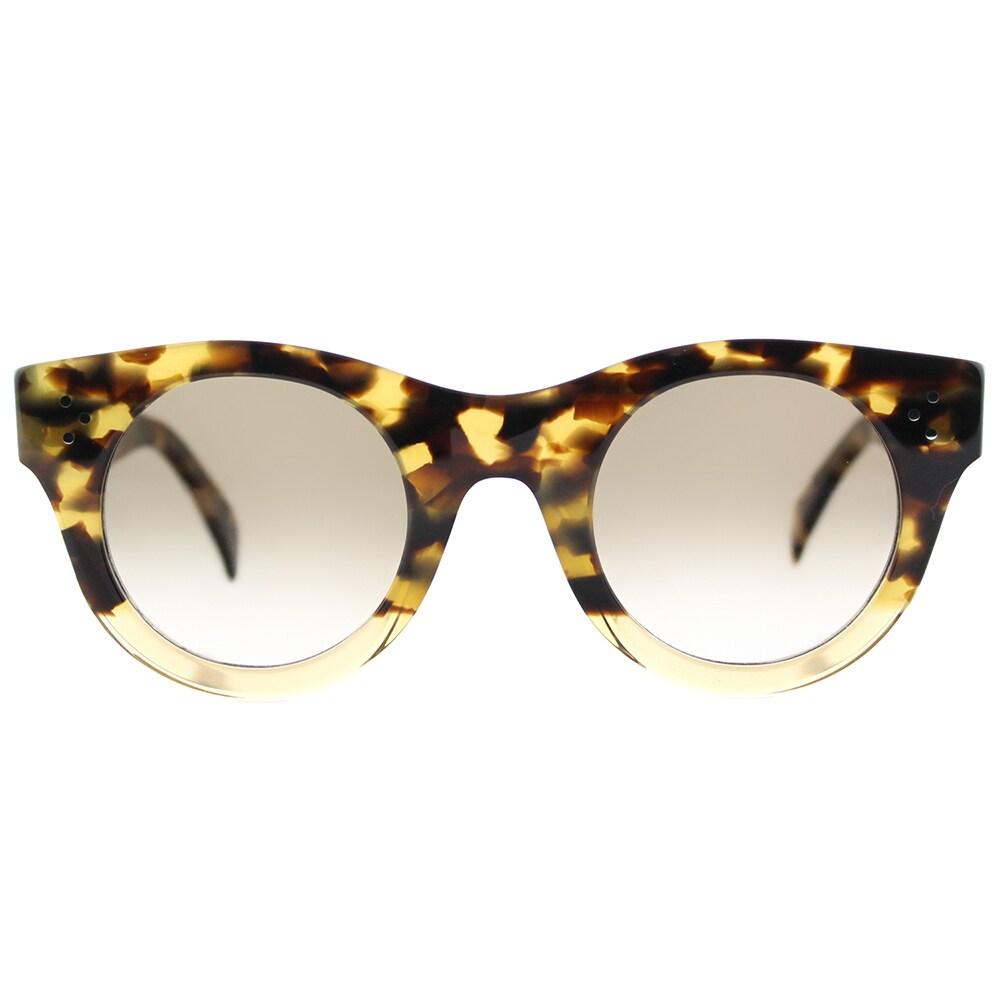 540cb8aca51da Shop Celine CL 41425 VNN Alia Havana Honey Beige Plastic Round Sunglasses  with Brown De-grade Lens - Free Shipping Today - Overstock - 14386238