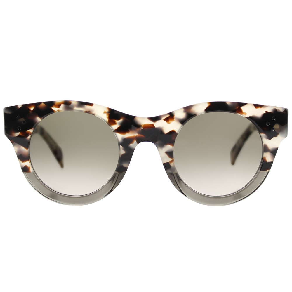 ded775e635a5d Shop Celine CL 41425 VNO Alia Havana Grey Plastic Round Sunglasses with  Brown Degrade Lens - Free Shipping Today - Overstock - 14386239