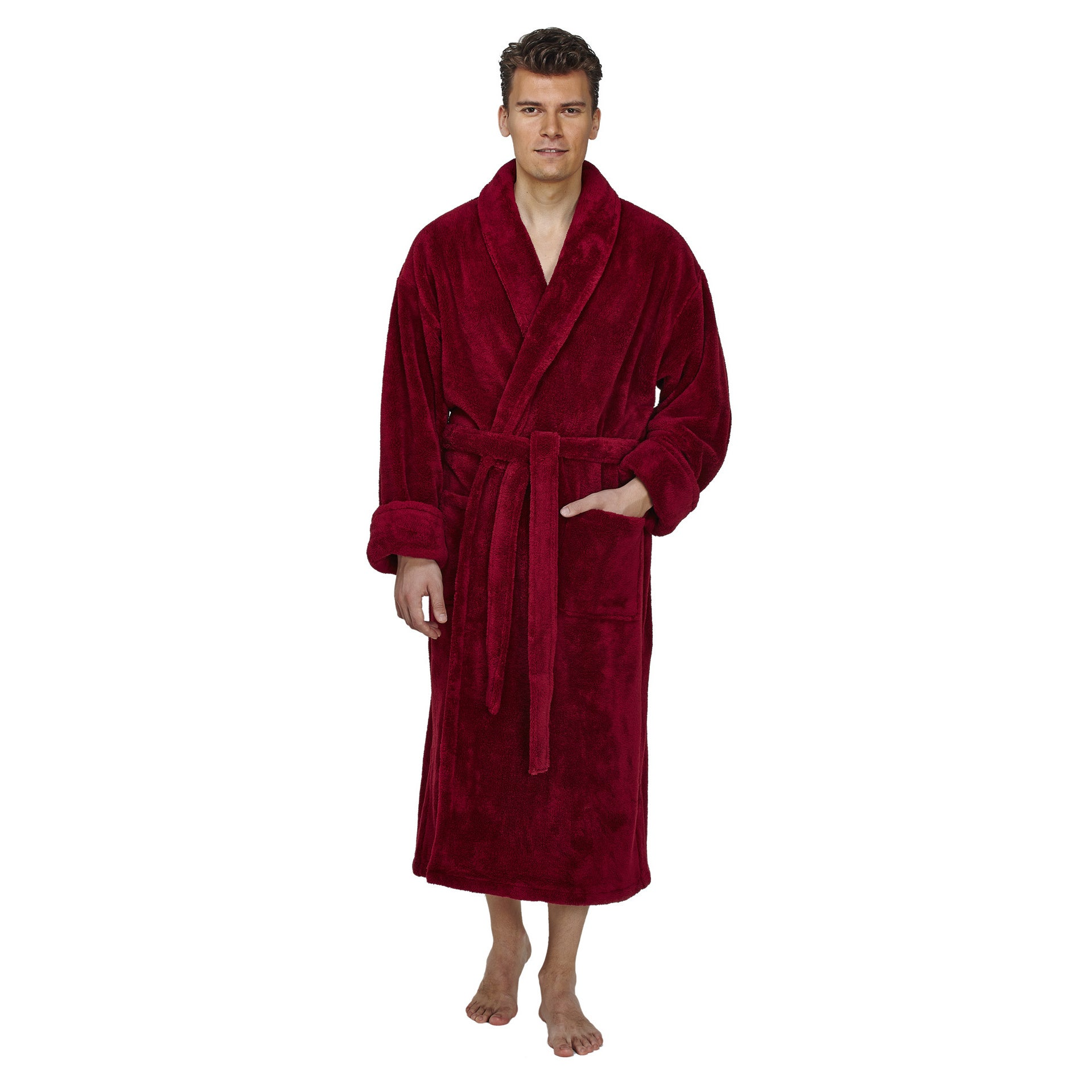 32d4b33196 Shop Men s Shawl Fleece Bathrobe Turkish Soft Plush Robe - Free Shipping  Today - Overstock - 14387006