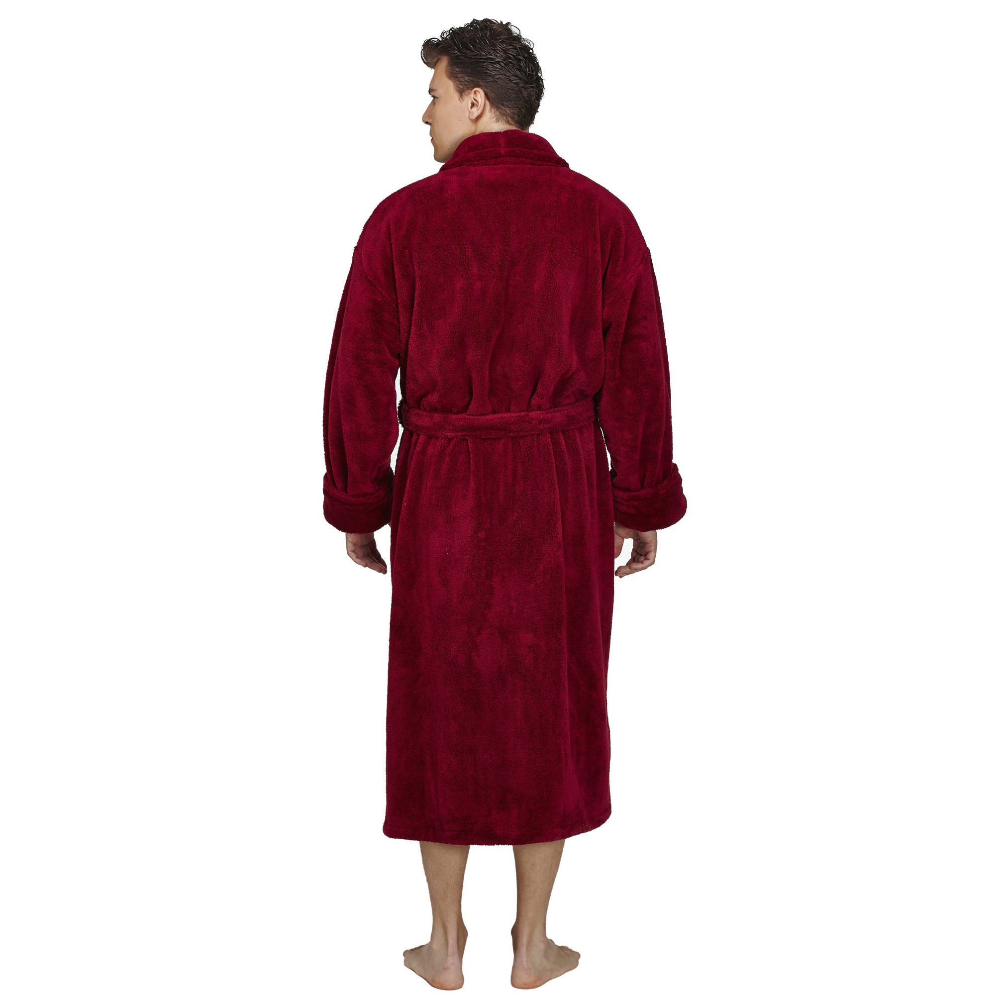 Shop Men s Shawl Fleece Bathrobe Turkish Soft Plush Robe - Free ... 088e03d18