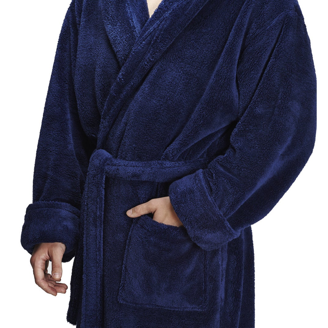 Men\'s Hooded Fleece Bathrobe Turkish Soft Plush Robe - Free Shipping ...
