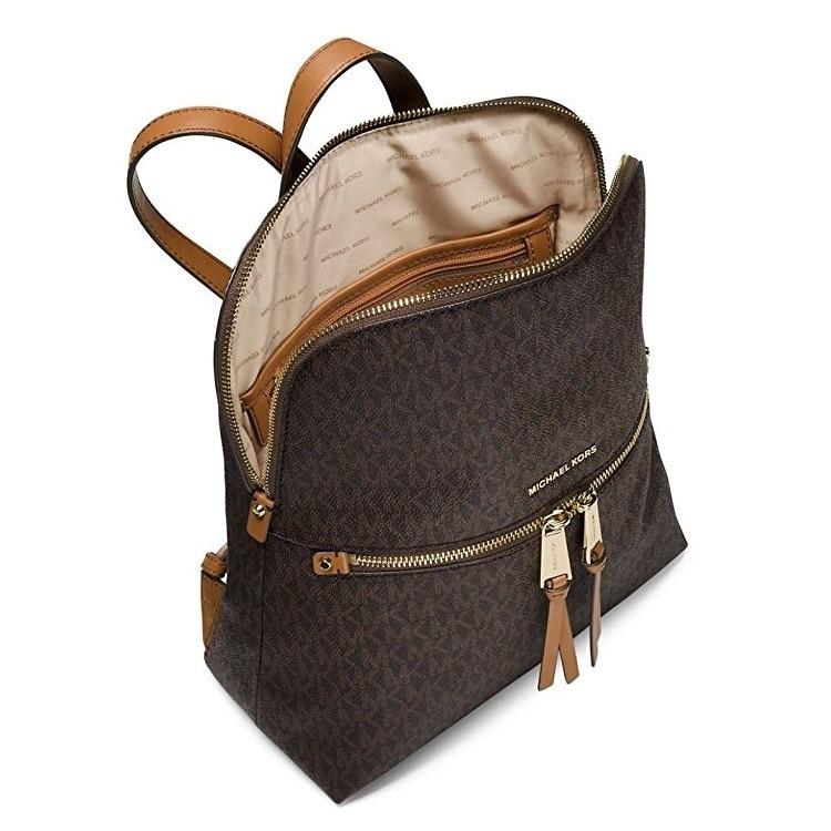 0e686606427a6c Shop MICHAEL Michael Kors Rhea Medium Slim Backpack - Brown - Free Shipping  Today - Overstock - 14388901