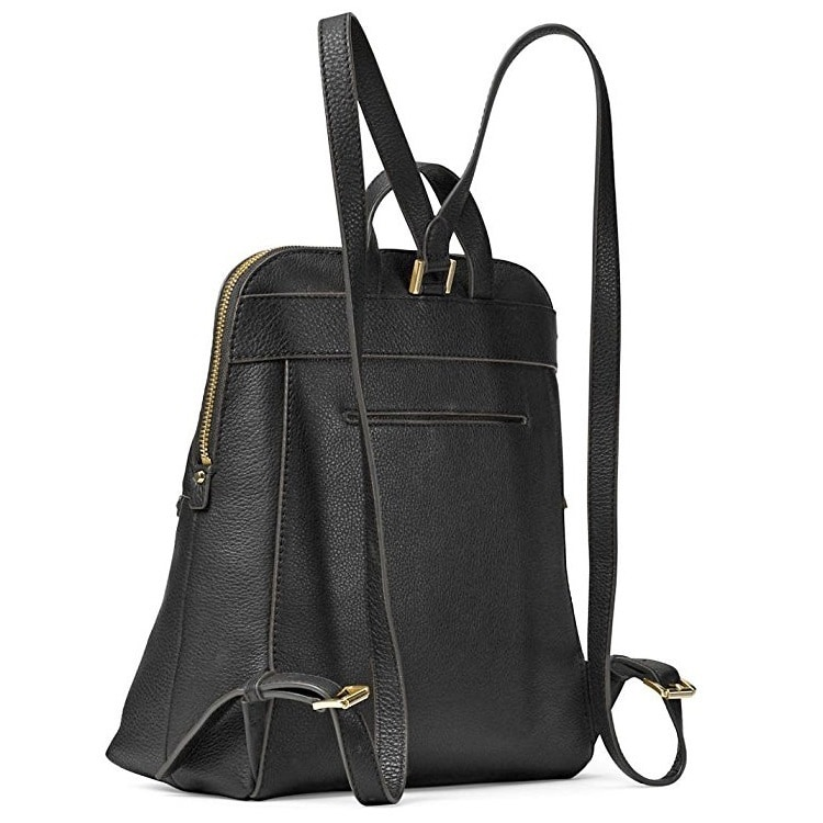 d3aead3457b0 Shop MICHAEL Michael Kors Rhea Medium Slim Backpack Black Gold Hardware - Free  Shipping Today - Overstock - 14388933