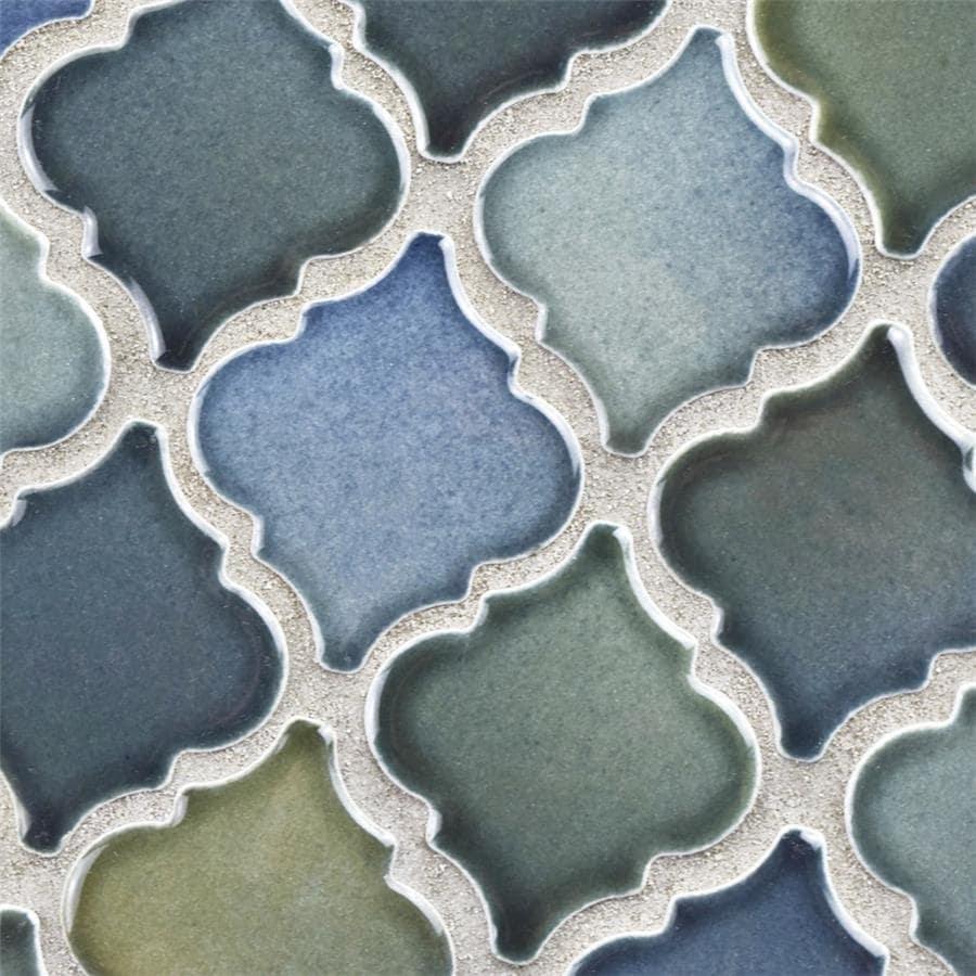 Shop SomerTile 12.375x12.5-inch Antaeus Atlantis Porcelain Mosaic ...