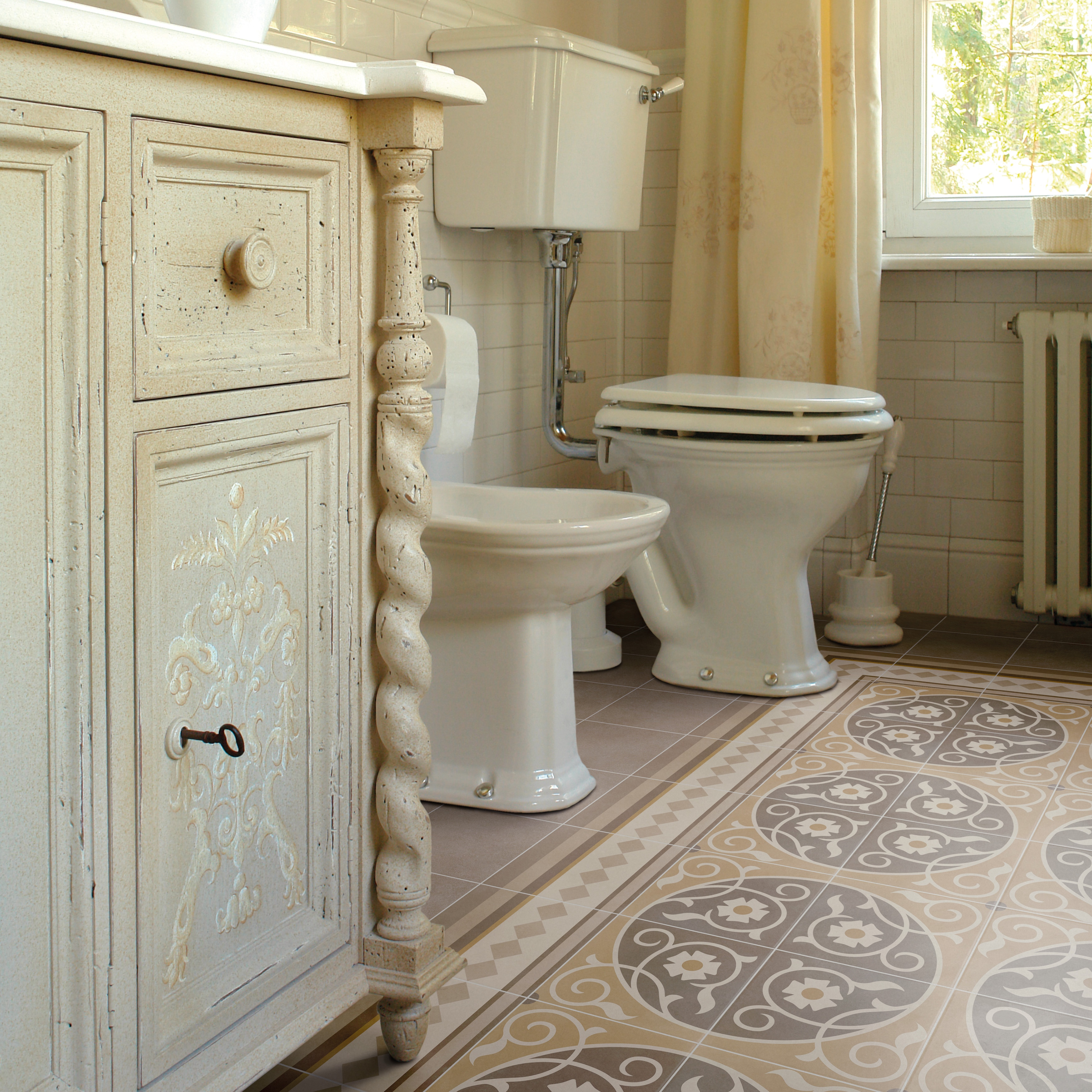 Somertile 7 875x7 875 Inch Piccola Loire Border Porcelain Floor And Wall Tile Free Shipping On Orders Over 45 14389222
