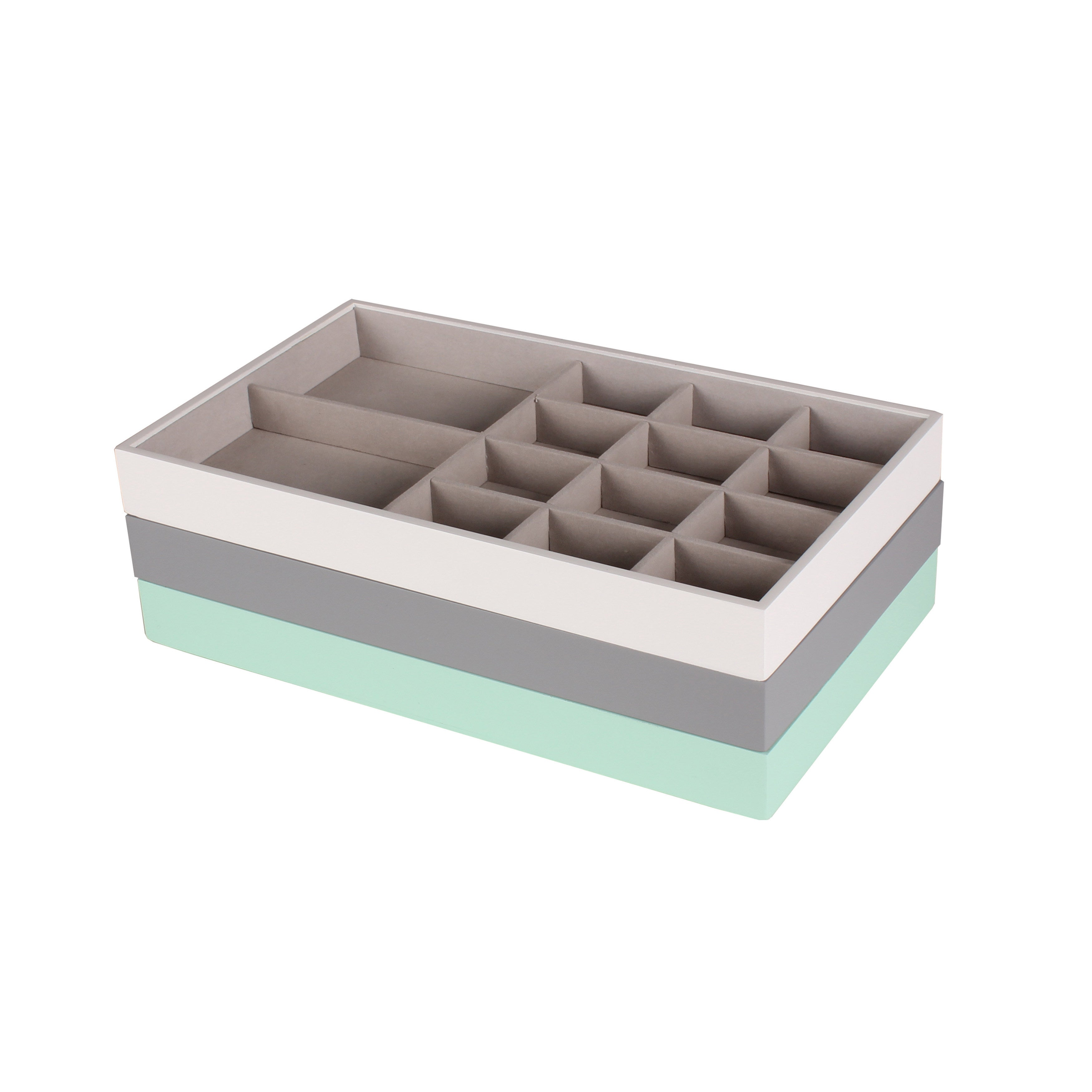 Charmant Shop Kate And Laurel Myrcella Multicolored Jewelry Storage Stackable Trays  (Pack Of 3)   Free Shipping Today   Overstock.com   14389824