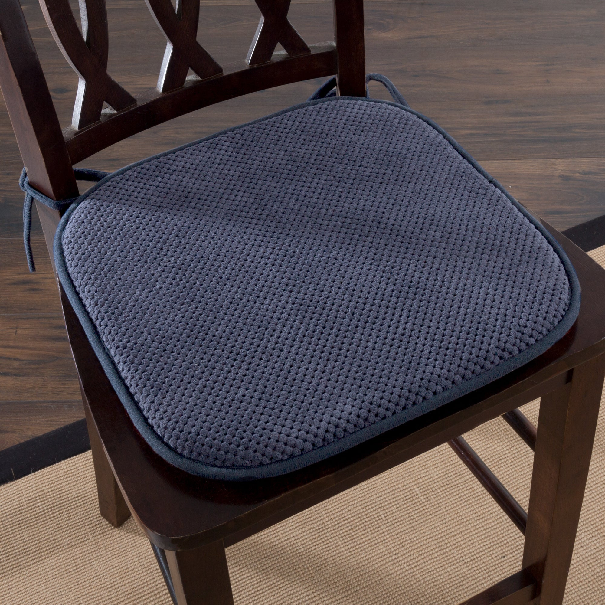 Shop Windsor Home Memory Foam Chair Pad (Set Of 2)   Free Shipping On  Orders Over $45   Overstock.com   14390495