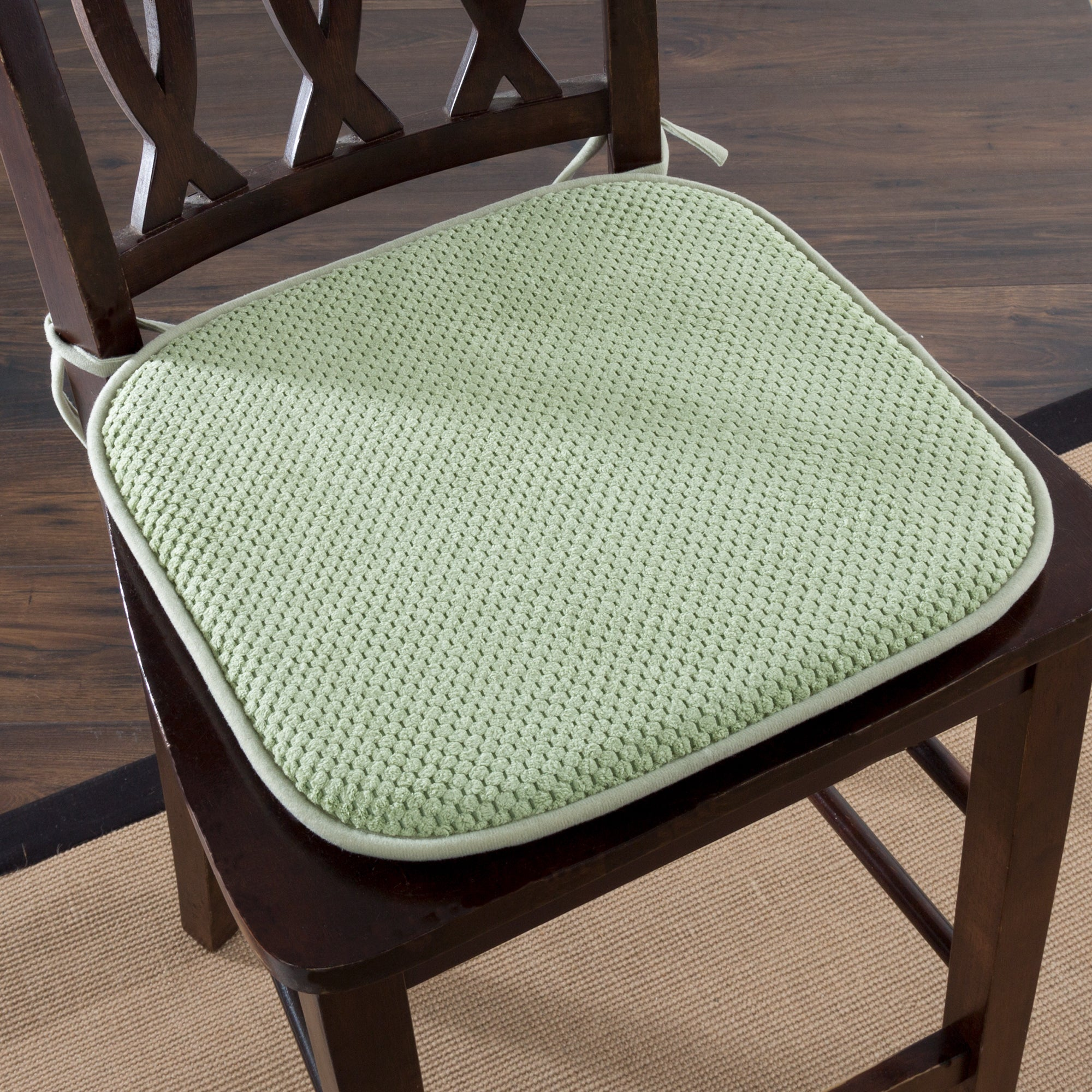 Windsor Home Memory Foam Chair Pad Set of 2 Free Shipping