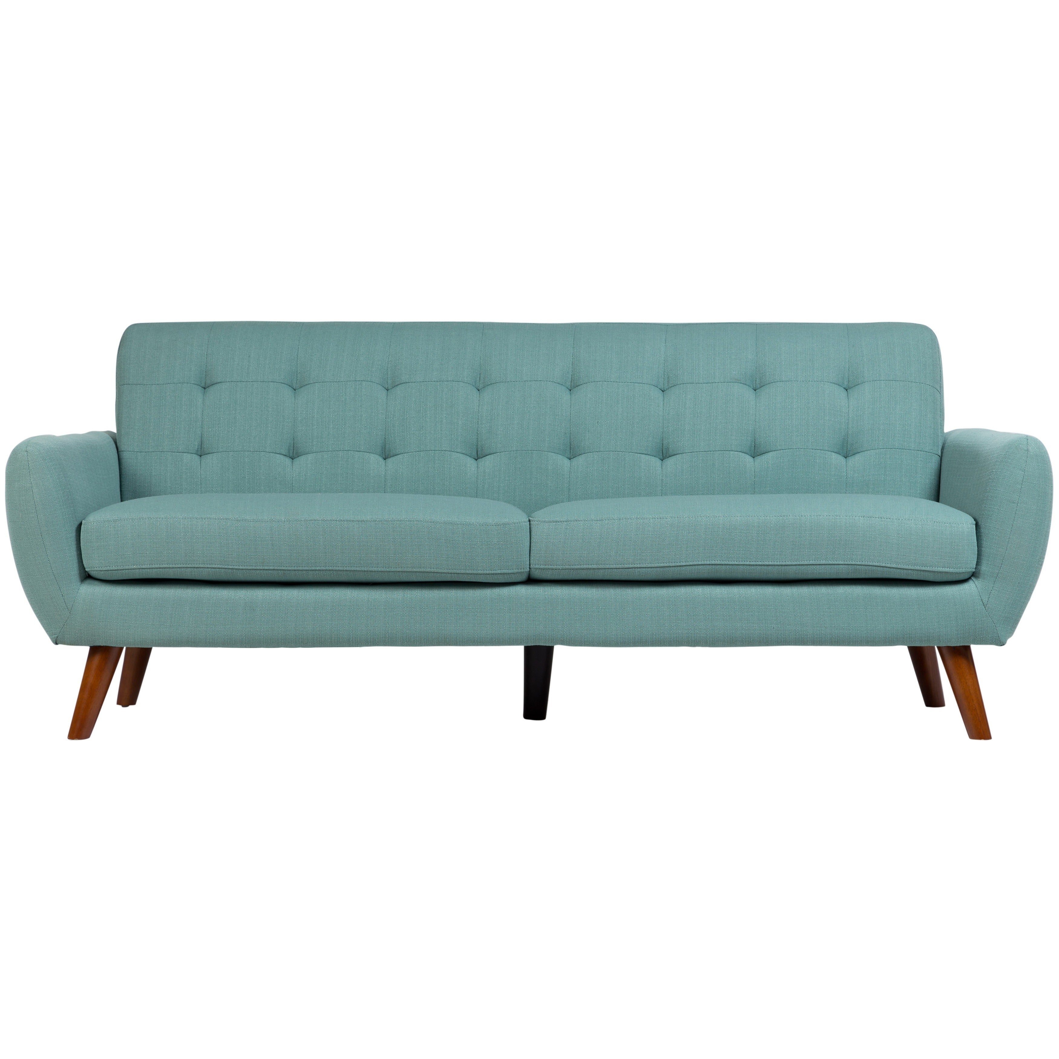 Shop Sitswell Daphne Teal Mid Century Modern Tufted Sofa On Sale