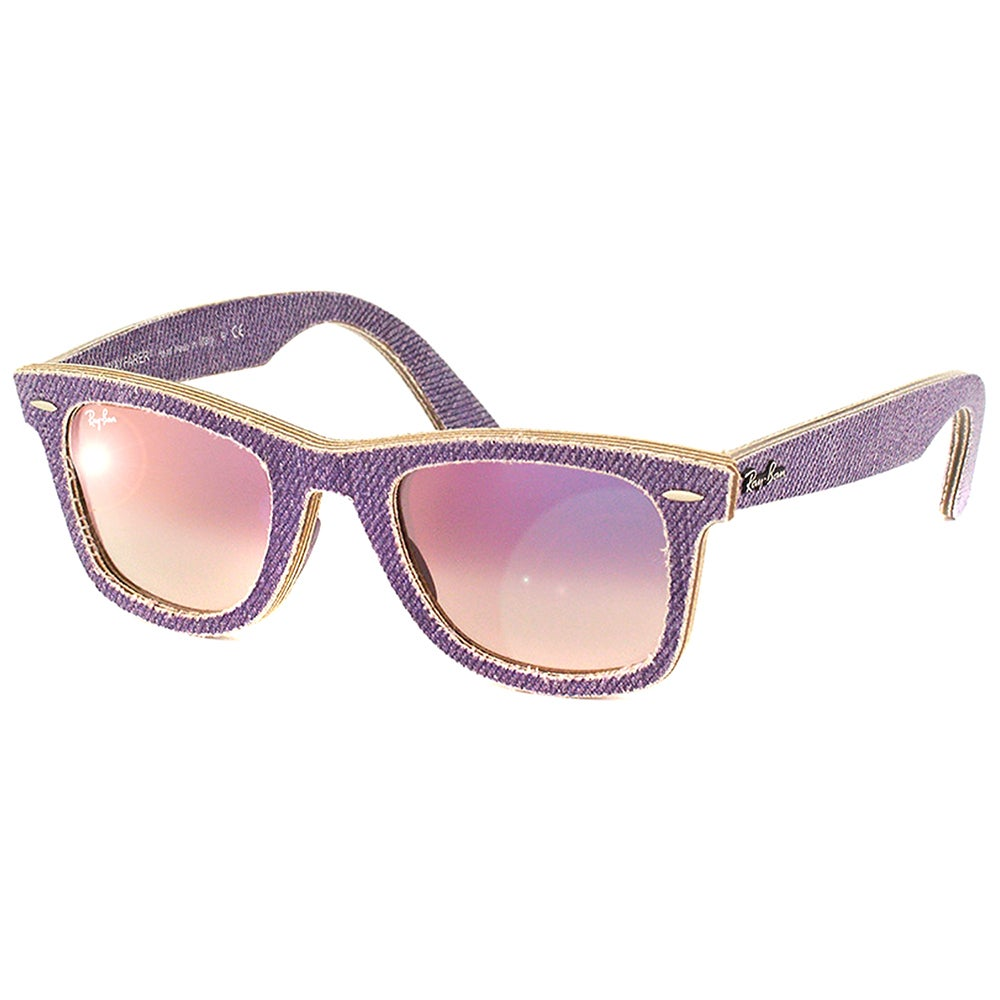 26598a137612e ... shop shop ray ban rb 2140 original wayfarer denim violet jeans gradient  sunglasses free shipping today