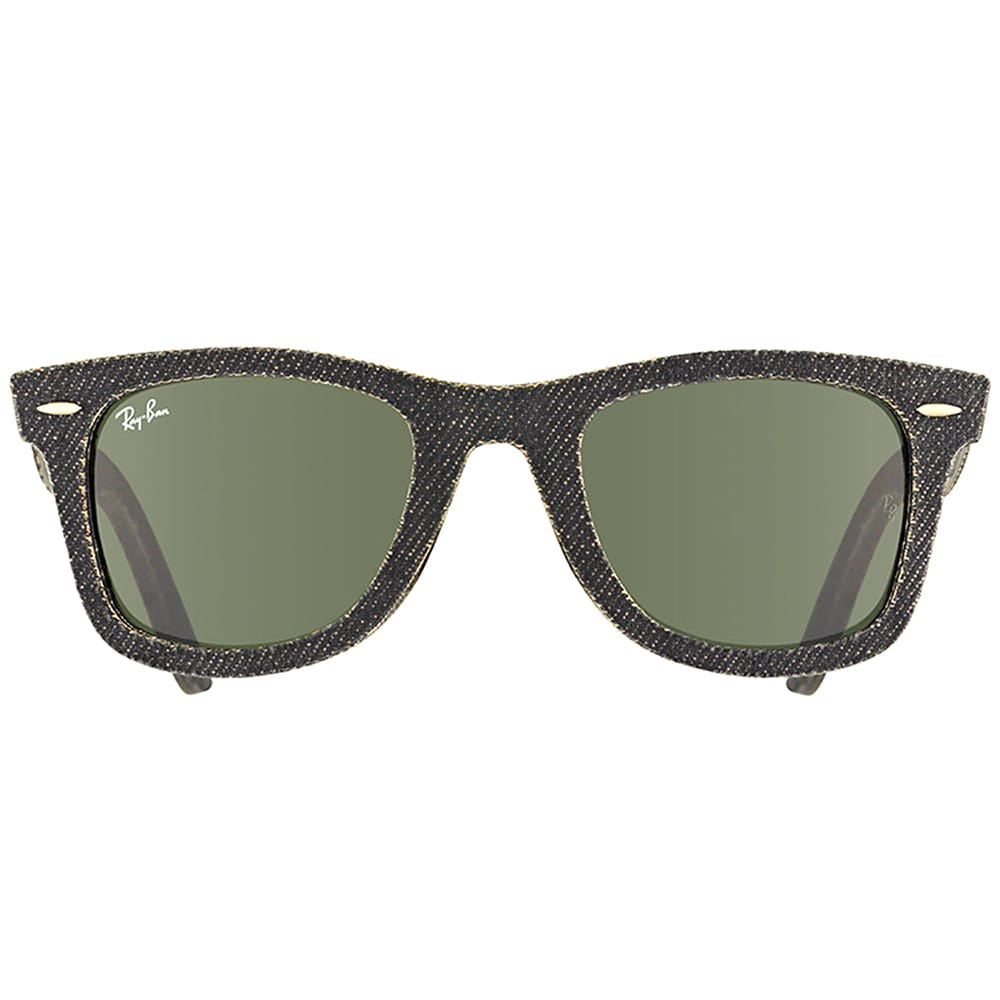 296ec409b79 Shop Ray Ban RB 2140 Original Wayfarer Denim 1162 Black Jeans Sunglasses  with Green Lens - Free Shipping Today - Overstock - 14392564
