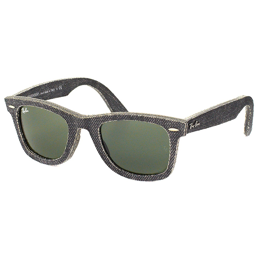 c01082bde9 Shop Ray Ban RB 2140 Original Wayfarer Denim 1162 Black Jeans Sunglasses  with Green Lens - Free Shipping Today - Overstock - 14392564