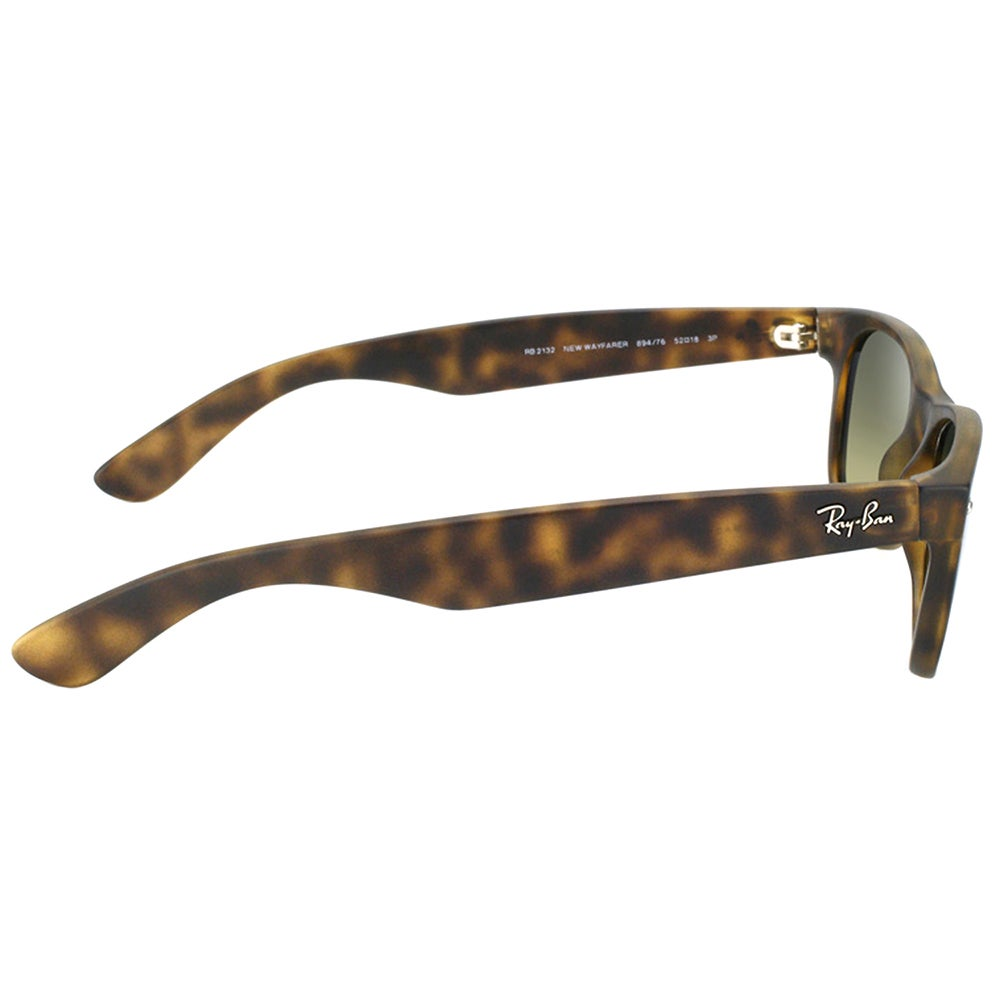 606261c23653 Shop Ray Ban RB 2132 New Wayfarer 894/76 Matte Havana Sunglasses with Blue  Green Polarized Lens 55mm - Free Shipping Today - Overstock - 14392567