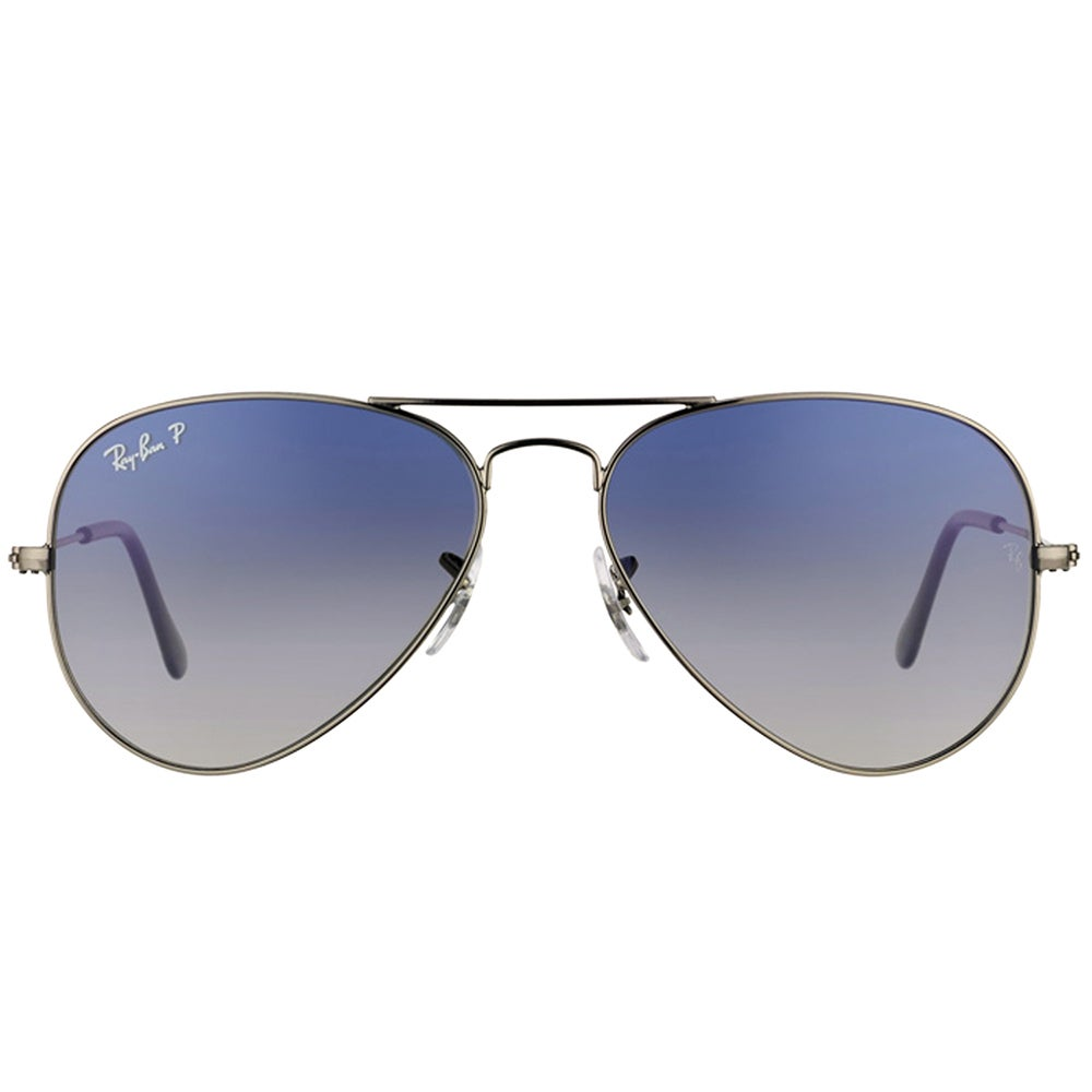 b5cc1fb59e4 Shop Ray-Ban RB 3025 Classic Aviator 004 78 Gunmetal Sunglasses with  Crystal Grey Gradient Polarized Lens 58mm - Free Shipping Today - Overstock  - 14392574