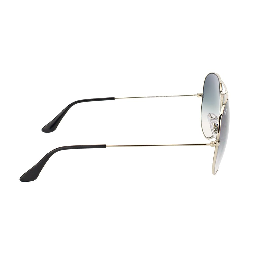 c49d37b72fd Shop Ray-Ban RB 3025 Classic Aviator 003 3F Silver Metal Sunglasses with  Light Blue Gradient Lens 62mm - Free Shipping Today - Overstock - 14392579