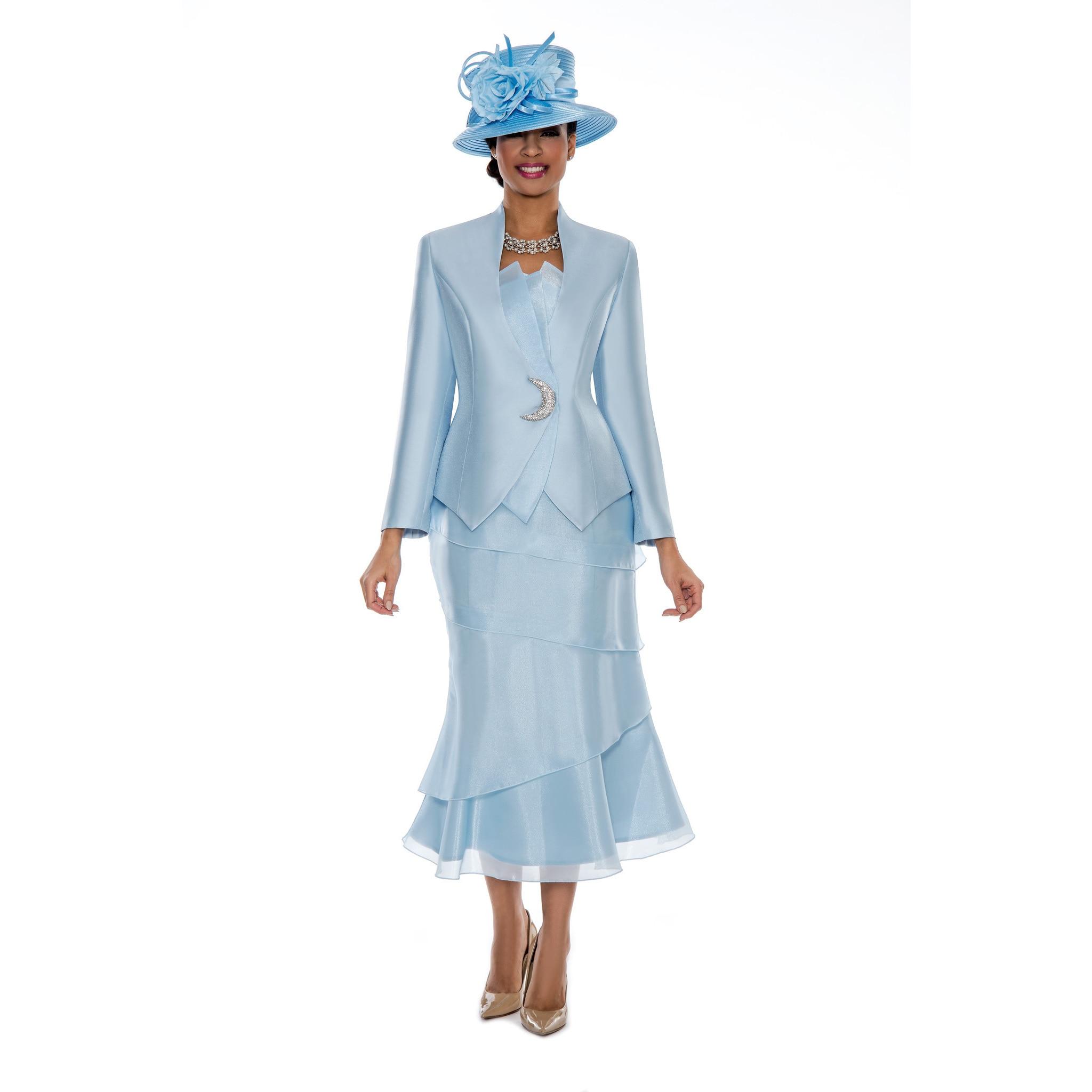 Shop Giovanna Signature Women S Organza Trimmed 3 Piece Skirt Suit