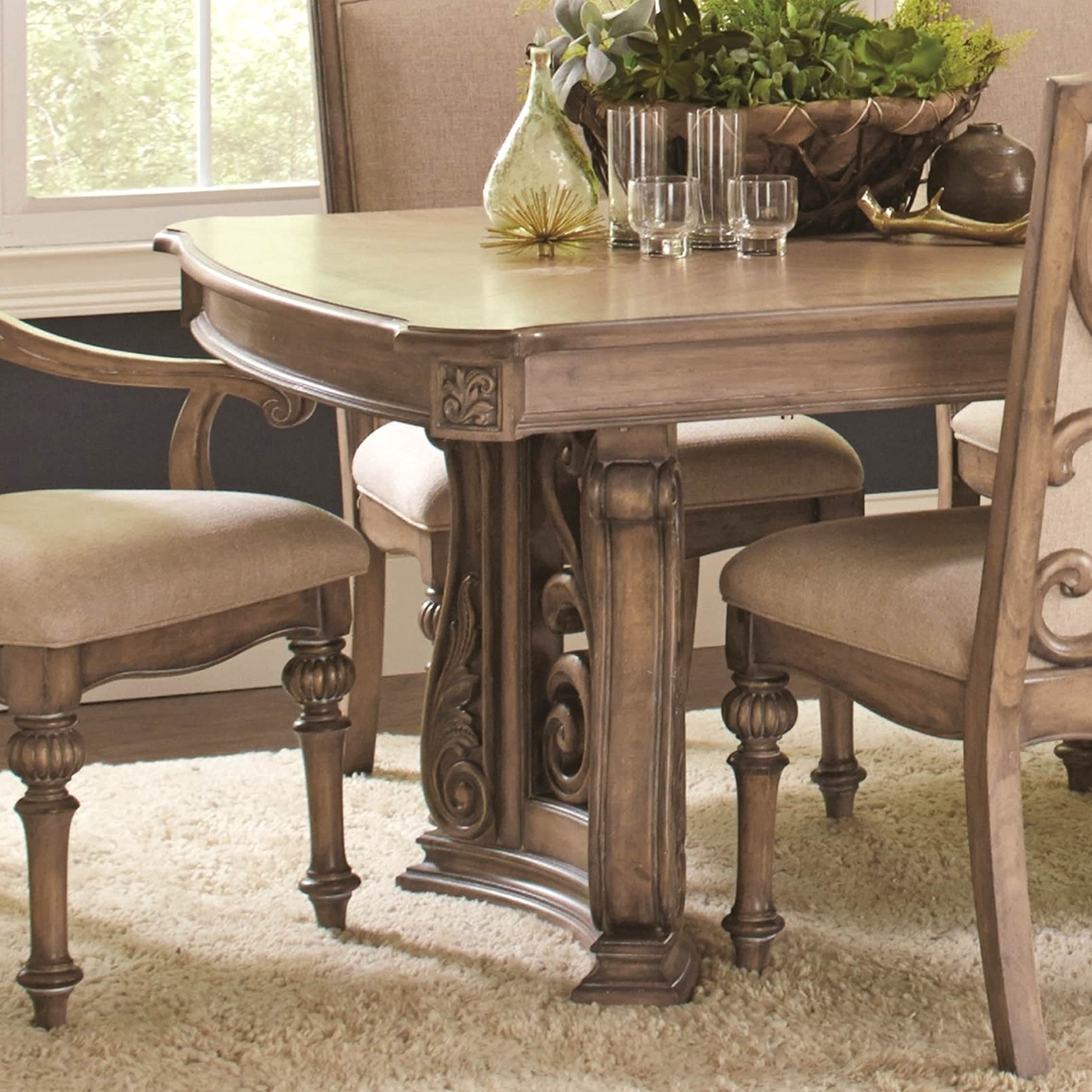La Bauhinia French Antique Carved Wood Design Dining Table Brown Free Shipping Today 14393884