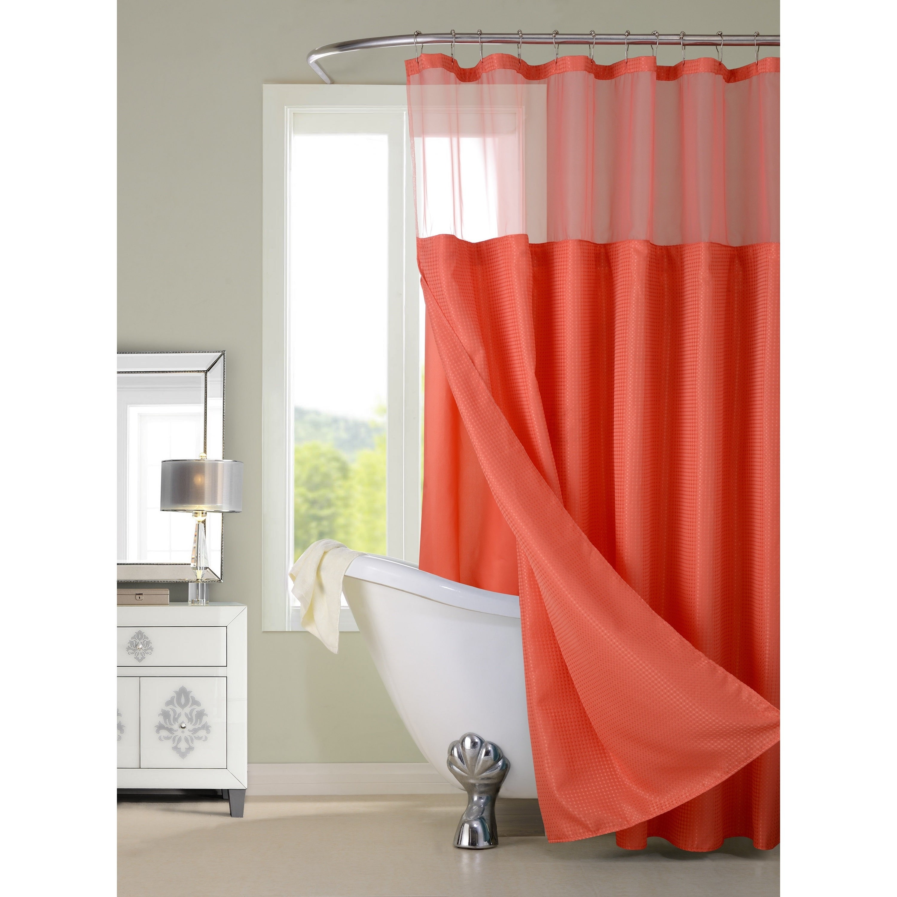 Hotel Shower Curtain with Detachable Liner - Free Shipping On Orders Over  $45 - Overstock.com - 20966767