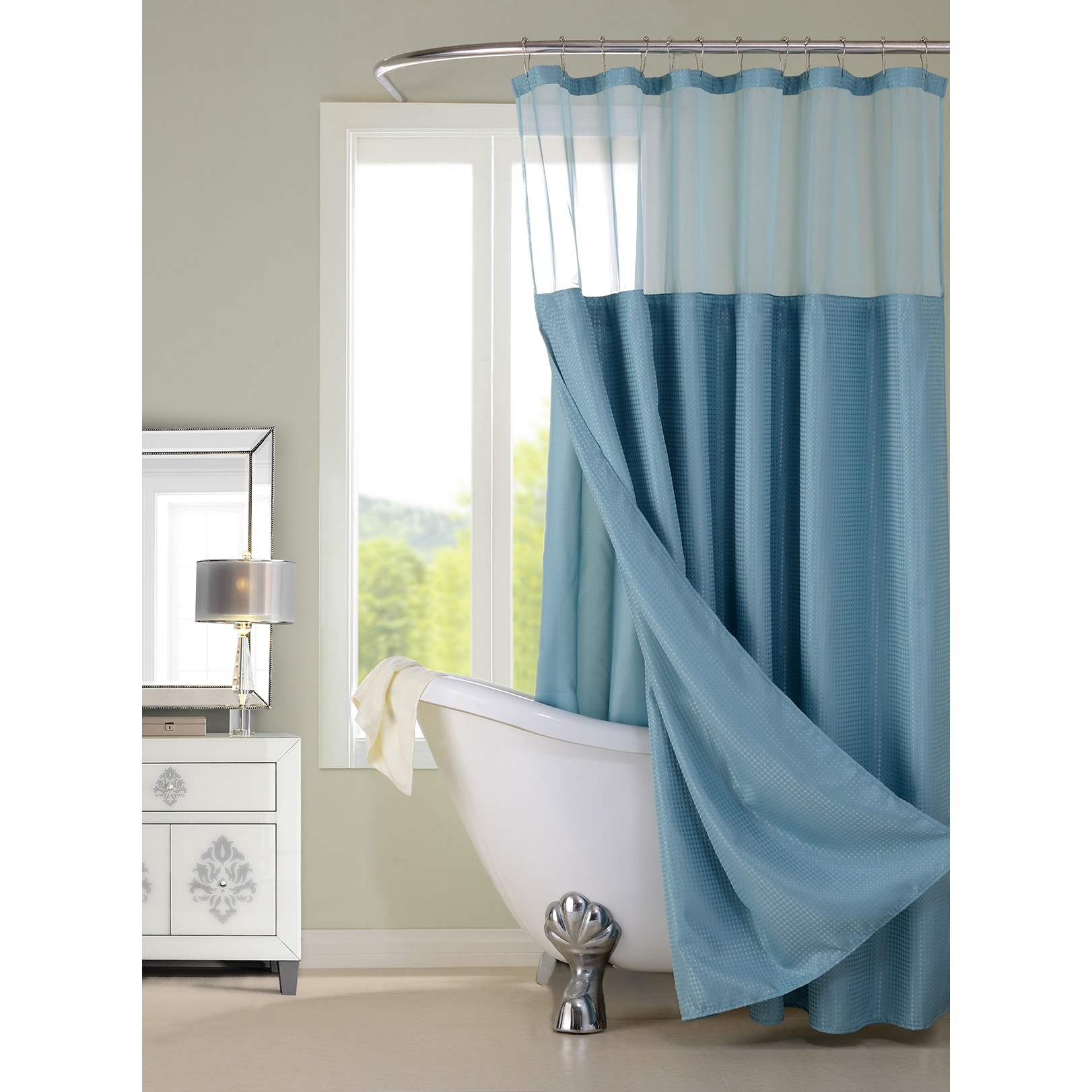 Shop Hotel Shower Curtain with Detachable Liner - Free Shipping On ...
