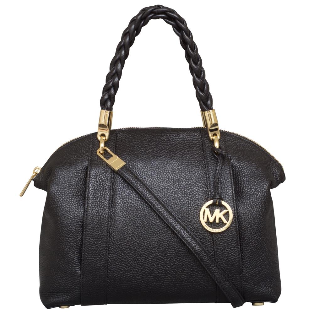 caa20efe20b6 Shop Michael Kors Naomi Large Black Bowling Satchel Handbag - Free Shipping  Today - Overstock - 14397373