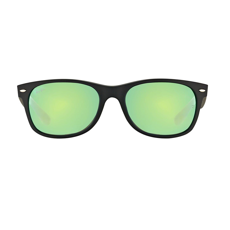 81ffe4714cc Shop Ray Ban Unisex New Wayfarer Black Rubber Plastic Sunglasses - Free  Shipping Today - Overstock - 14397960