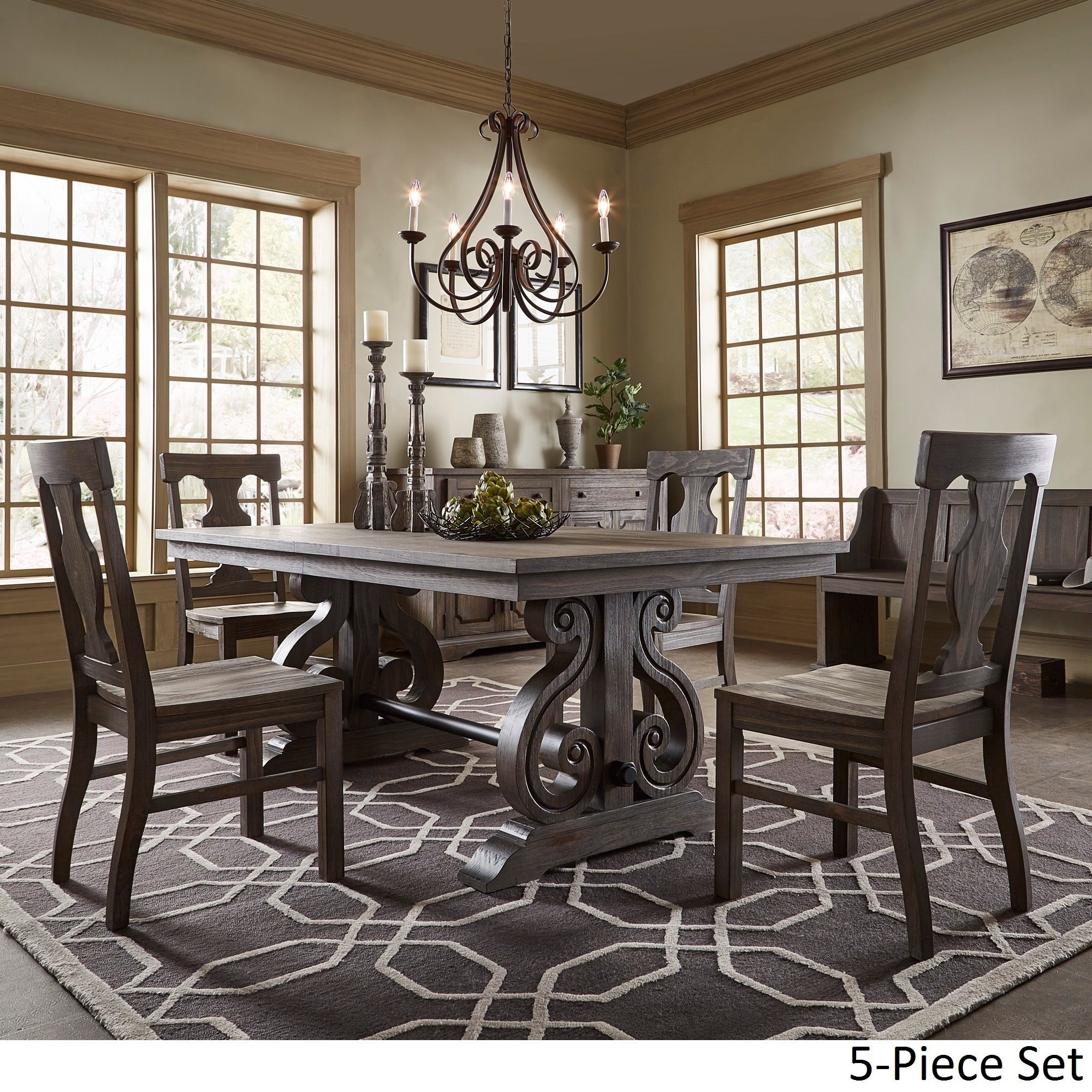 Shop rowyn wood extendable dining table set by inspire q artisan on sale free shipping today overstock com 14399187