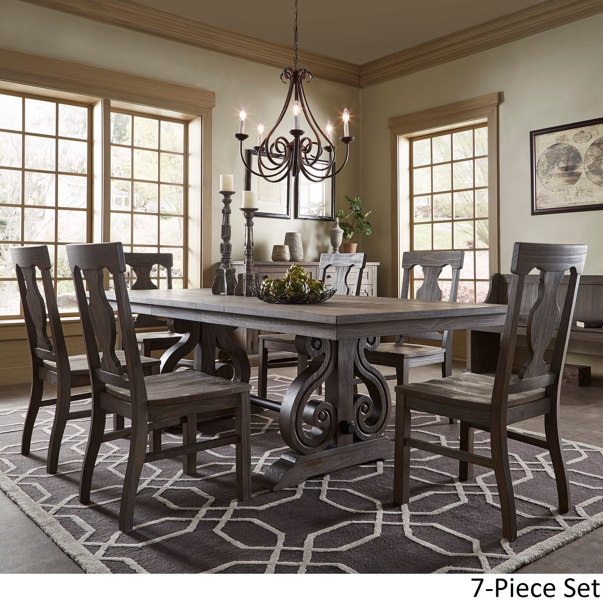fafeef8e9c2bb Shop Rowyn Wood Extendable Dining Table Set by iNSPIRE Q Artisan - Free  Shipping Today - Overstock - 14399187