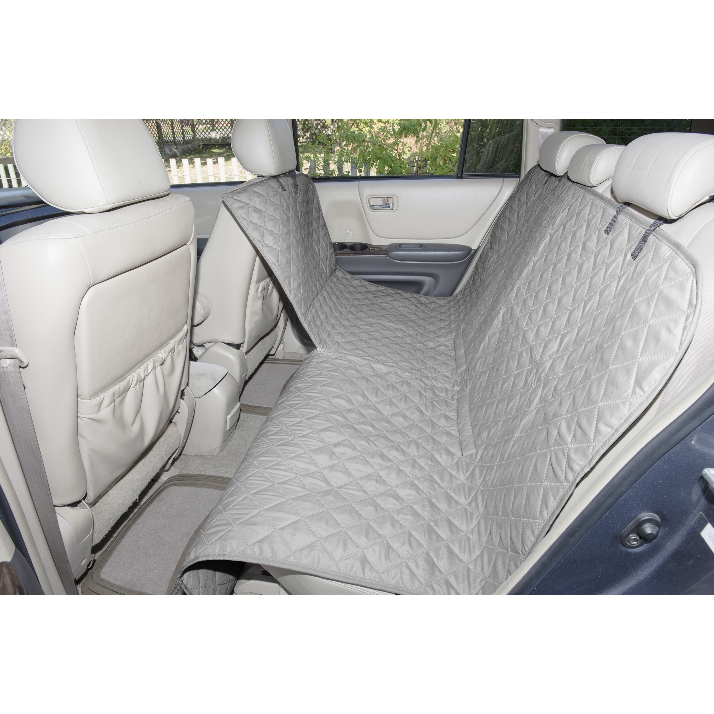 Quilted Pet Dog Car Rear Seat Cover Protector For Honda Jazz ALL YEARS