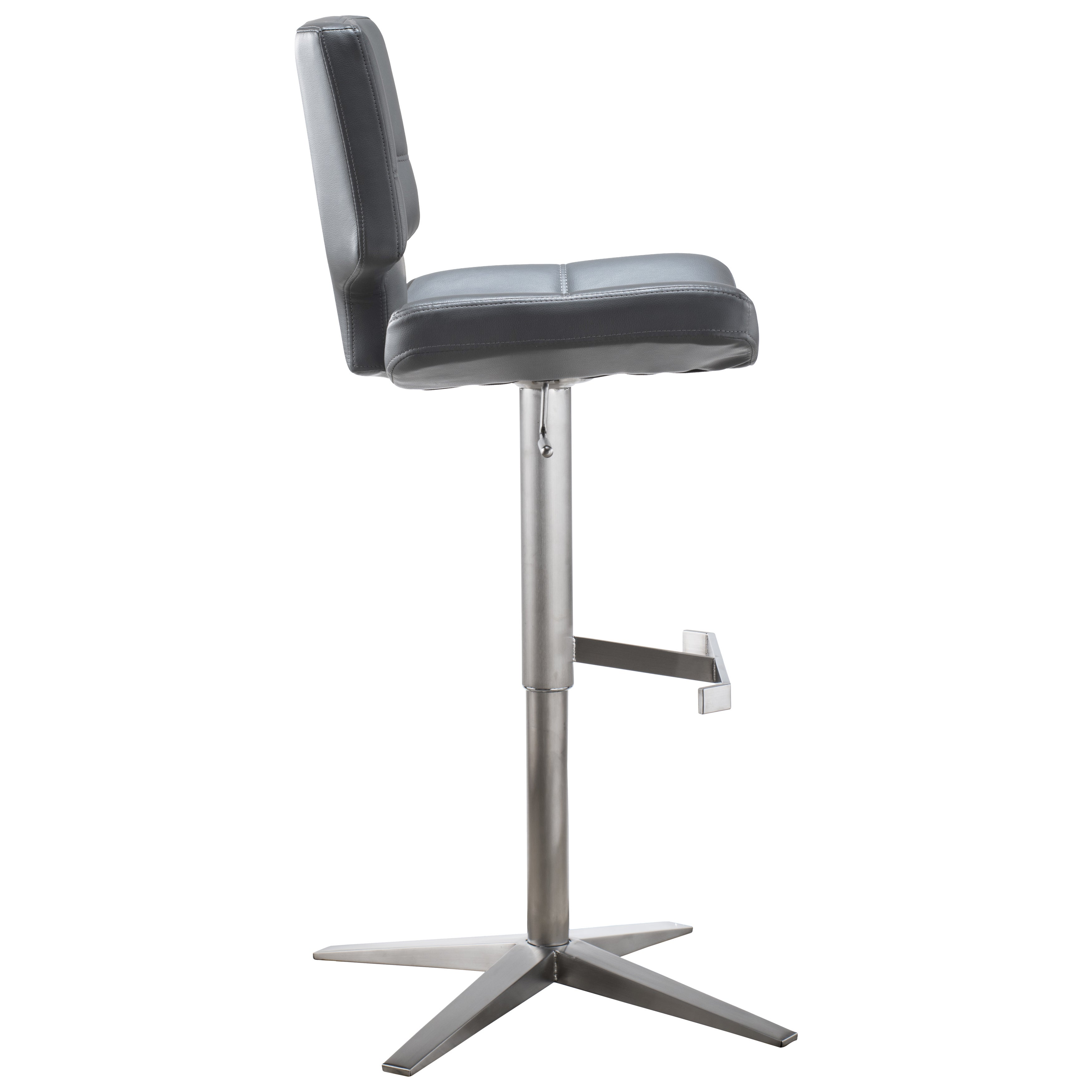 adjustable height swivel bar stool. MIX Brushed Stainless Steel X Base High-Back Adjustable Height Swivel Bar Stool - Free Shipping Today Overstock 20969829
