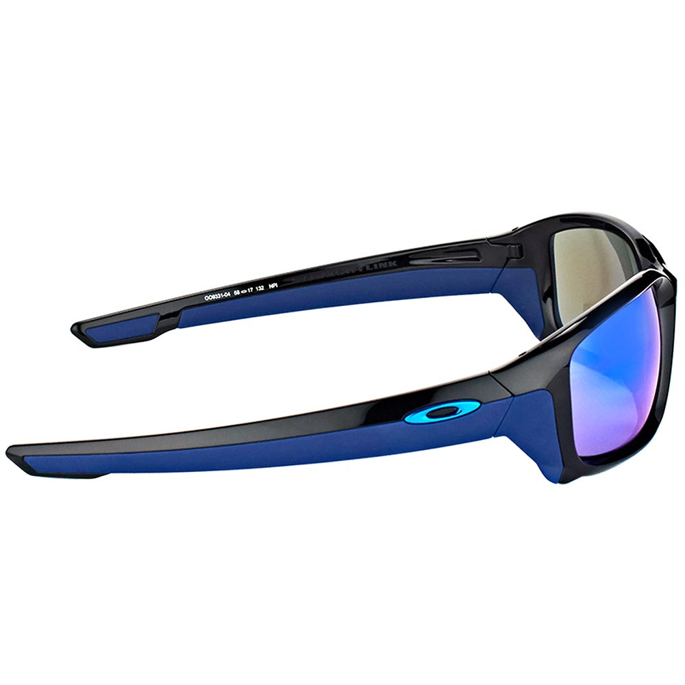 a999fc37b9 Shop Oakley OO 9331 933104 StraightLink Polished Black Plastic Sport  Sunglasses with Sapphire Iridium Lens - On Sale - Free Shipping Today -  Overstock - ...