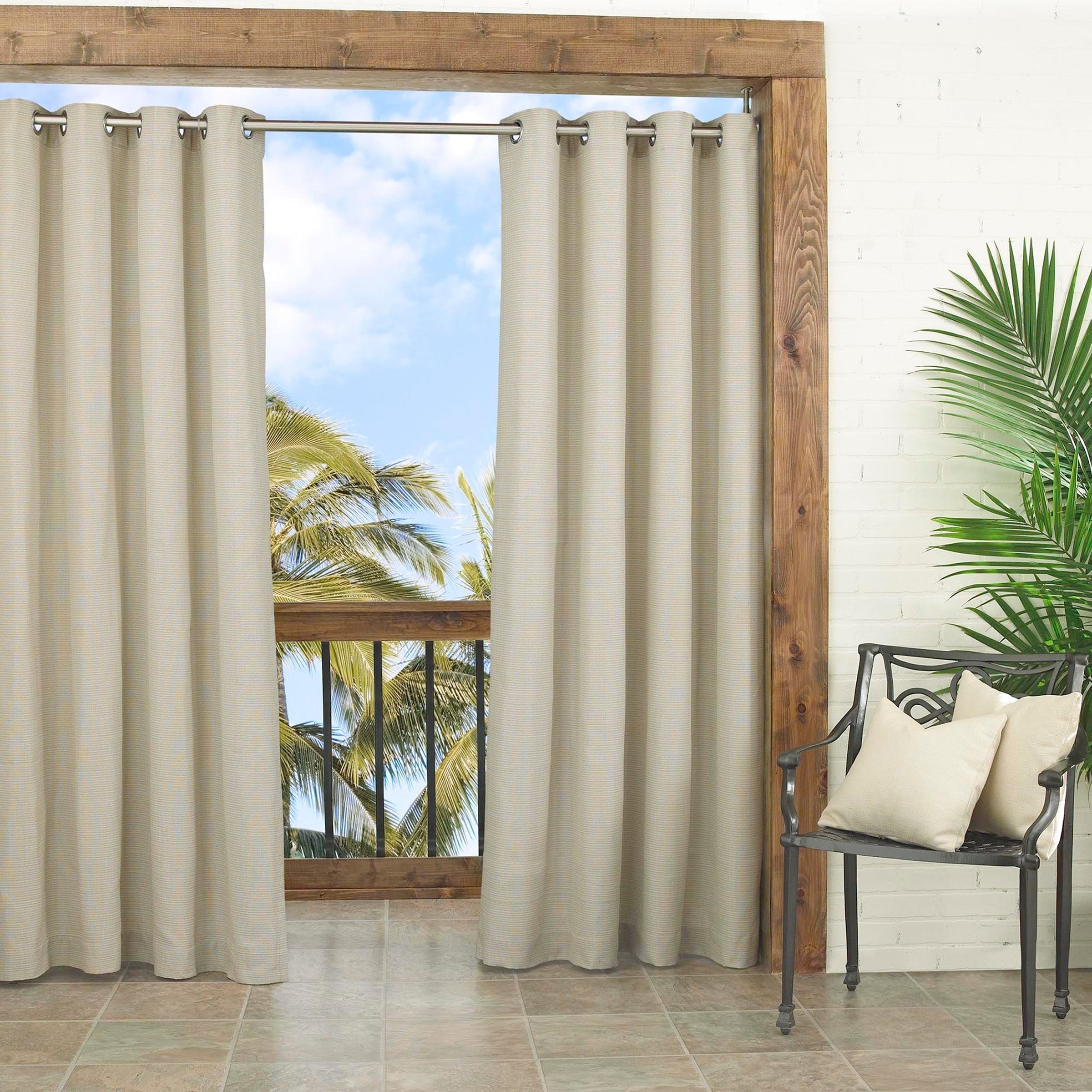 nickel xx dfohome outdoor curtain plated sand with regency cheap grommets grommet sunbrella curtains n