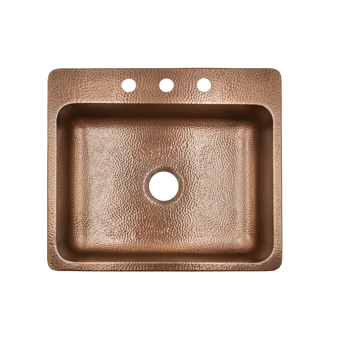 Sinkology rosa drop in 25 3 hole copper kitchen sink in antique sinkology rosa drop in 25 3 hole copper kitchen sink in antique copper free shipping today overstock 20974772 workwithnaturefo