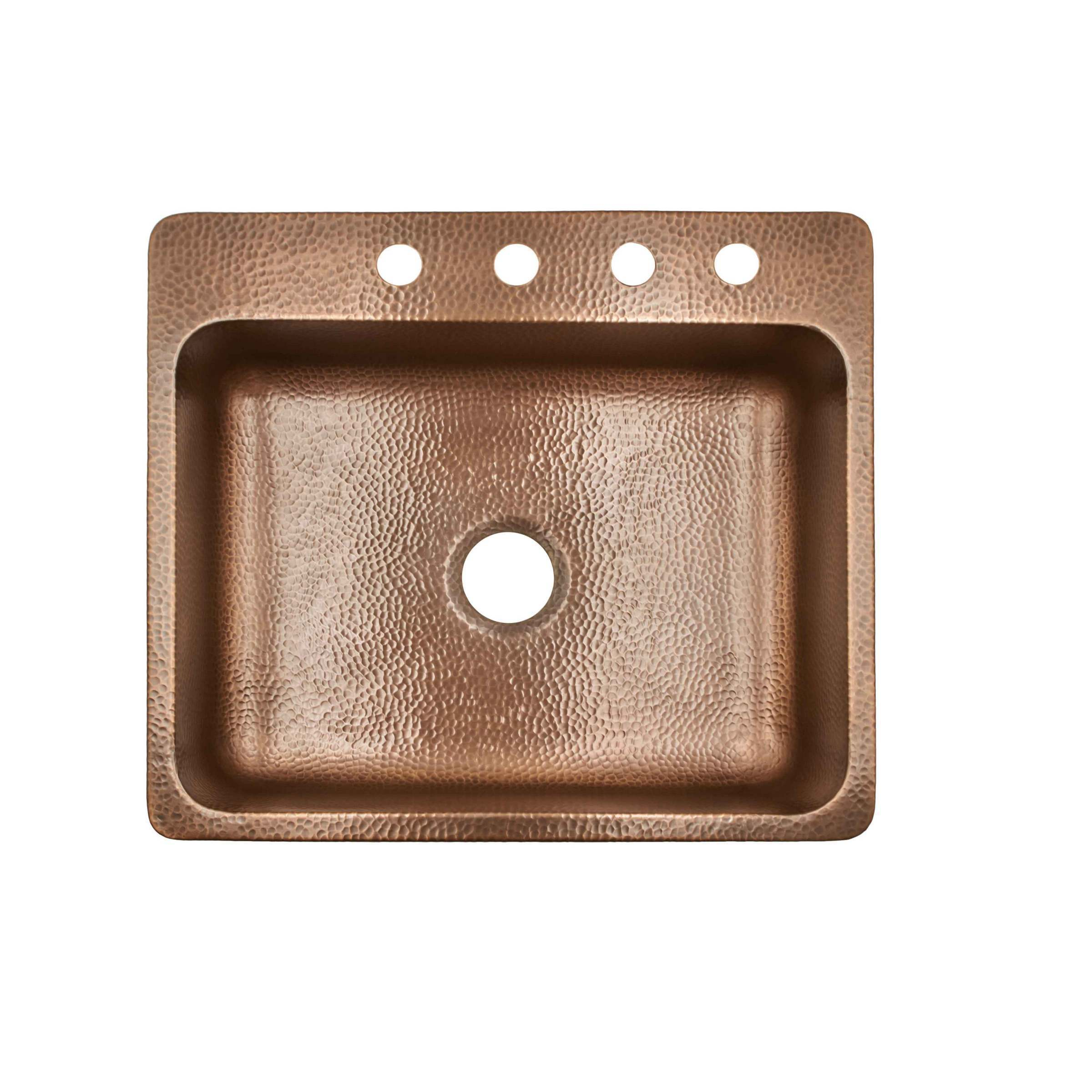sinkology rosa drop in 25   4 hole kitchen sink in antique copper   free shipping today   overstock com   20975174 sinkology rosa drop in 25   4 hole kitchen sink in antique copper      rh   overstock com
