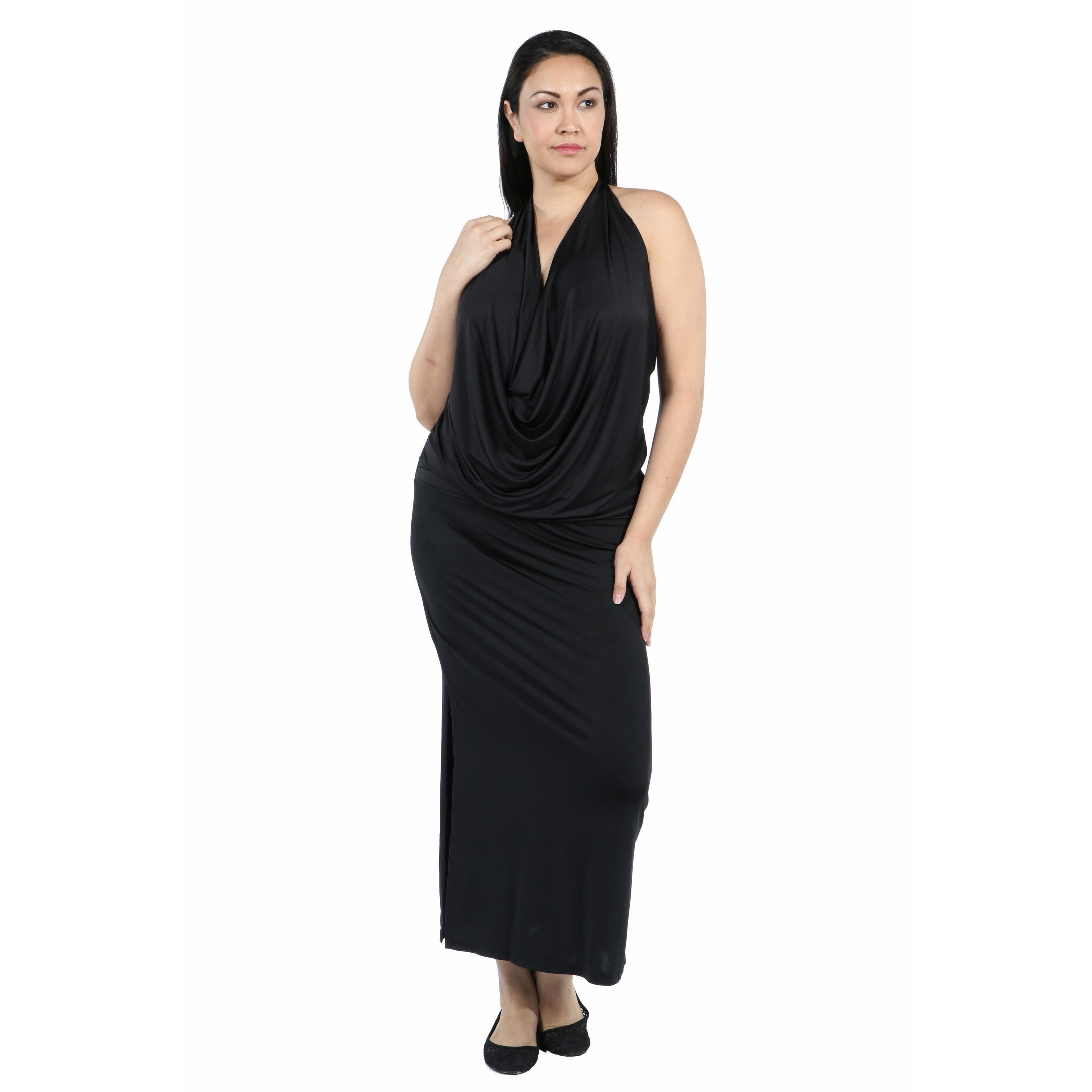 4d547f3b0a3 Shop 24 7 Comfort Apparel Daring and Dazzling Maxi Length Plus Size Dress -  Free Shipping Today - Overstock.com - 14406429