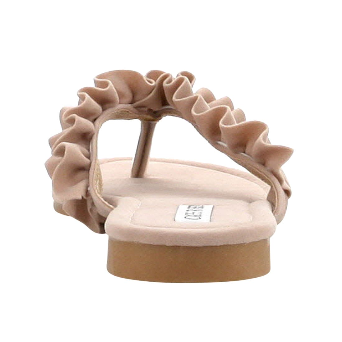 5d4cb1efa910 Shop Cape Robbin Women s FH50 Faux-suede Slip-on Ruffled Thong-style Flat  Sandals - Free Shipping On Orders Over  45 - Overstock - 14410624