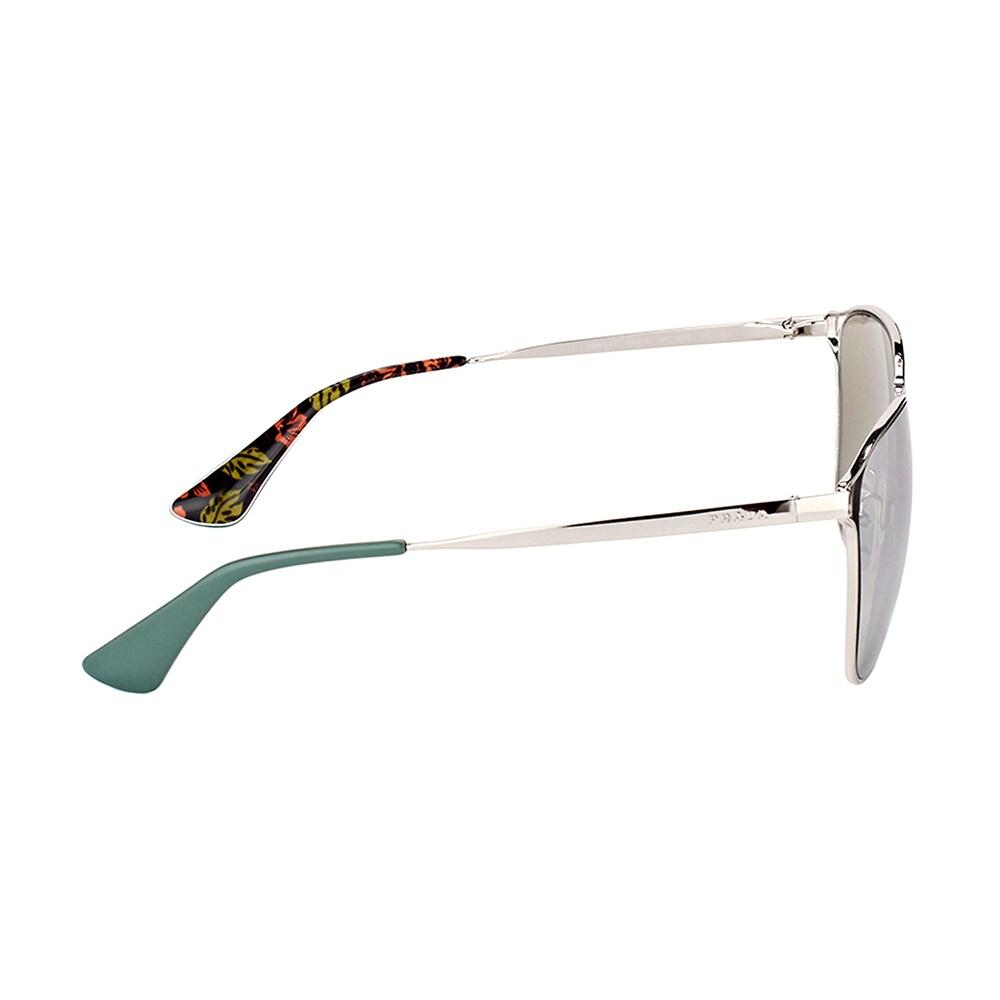 8e8a3fece Shop Prada PR 54TS 1BC2B0 Silver Metal Square Sunglasses with Silver Mirror  Lens - Free Shipping Today - Overstock - 14411364