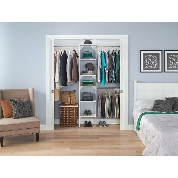 Superbe Shop ClosetMaid SuiteSymphony 12 Inch Wide Closet Tower Kit   Free Shipping  Today   Overstock.com   14413301