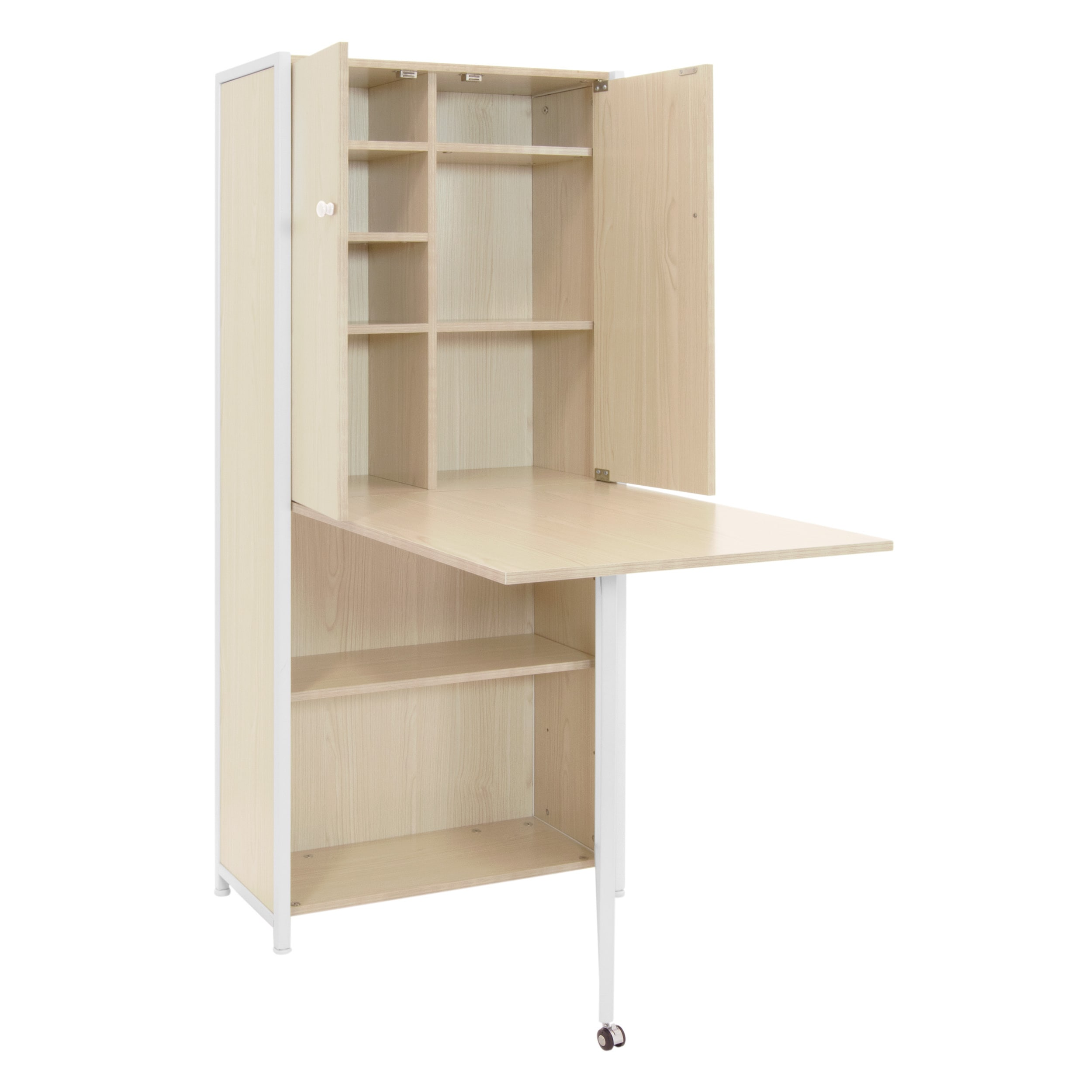 Studio Designs Fold Out Craft And Sewing Machine Table Furniture Armoire    Free Shipping Today   Overstock.com   20982167